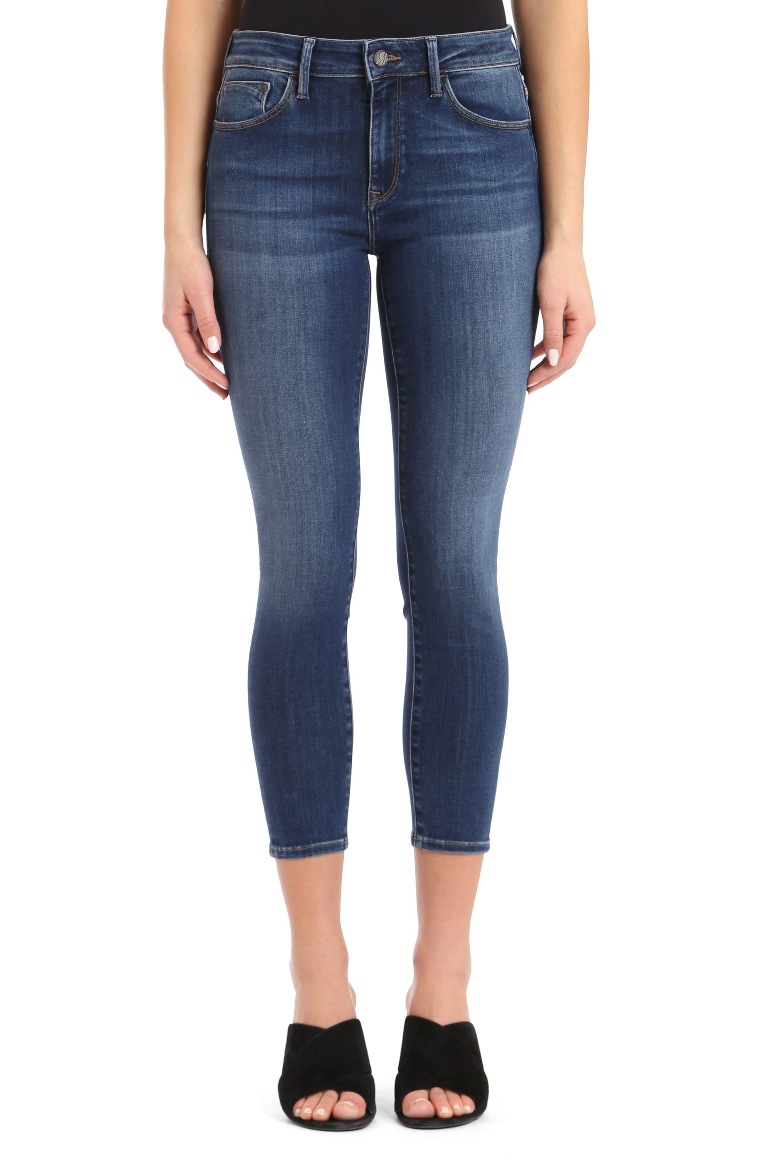MAVI JEANS Mavi Tess Crop Skinny Jeans in Indigo Super Soft