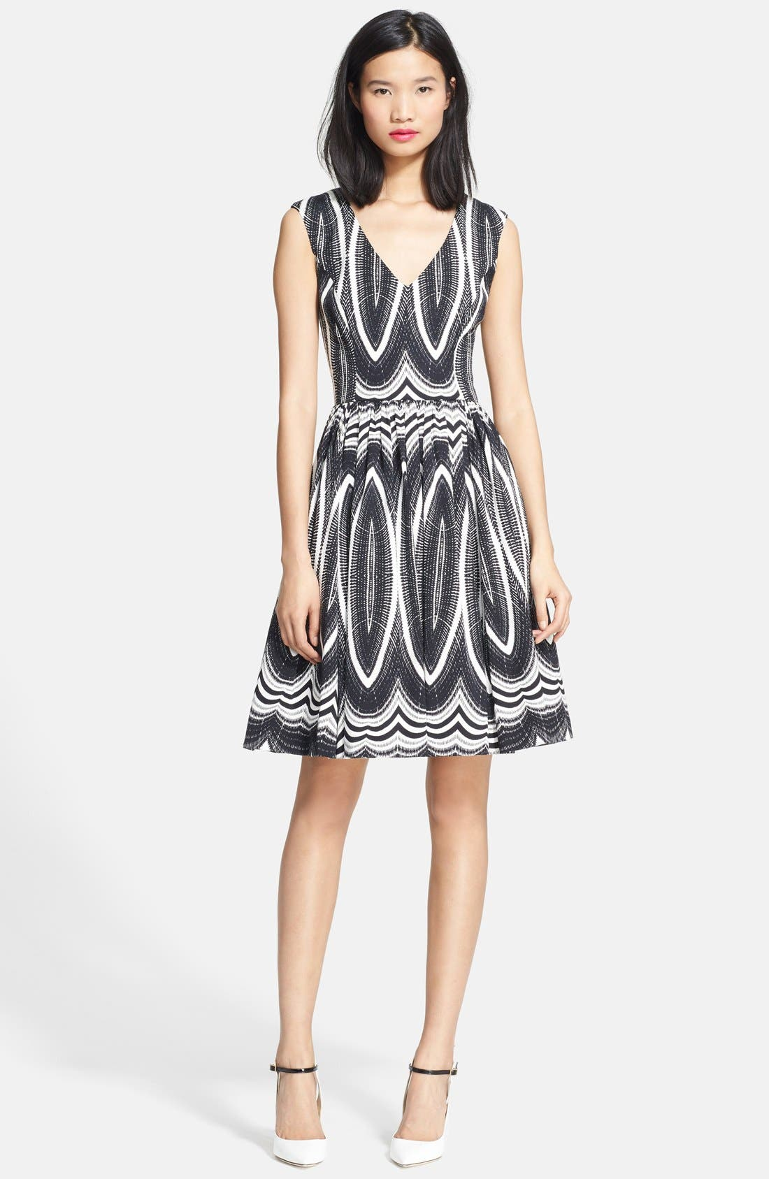 'Dolce Vita' Stretch Twill Fit & Flare Dress,                         Main,                         color,