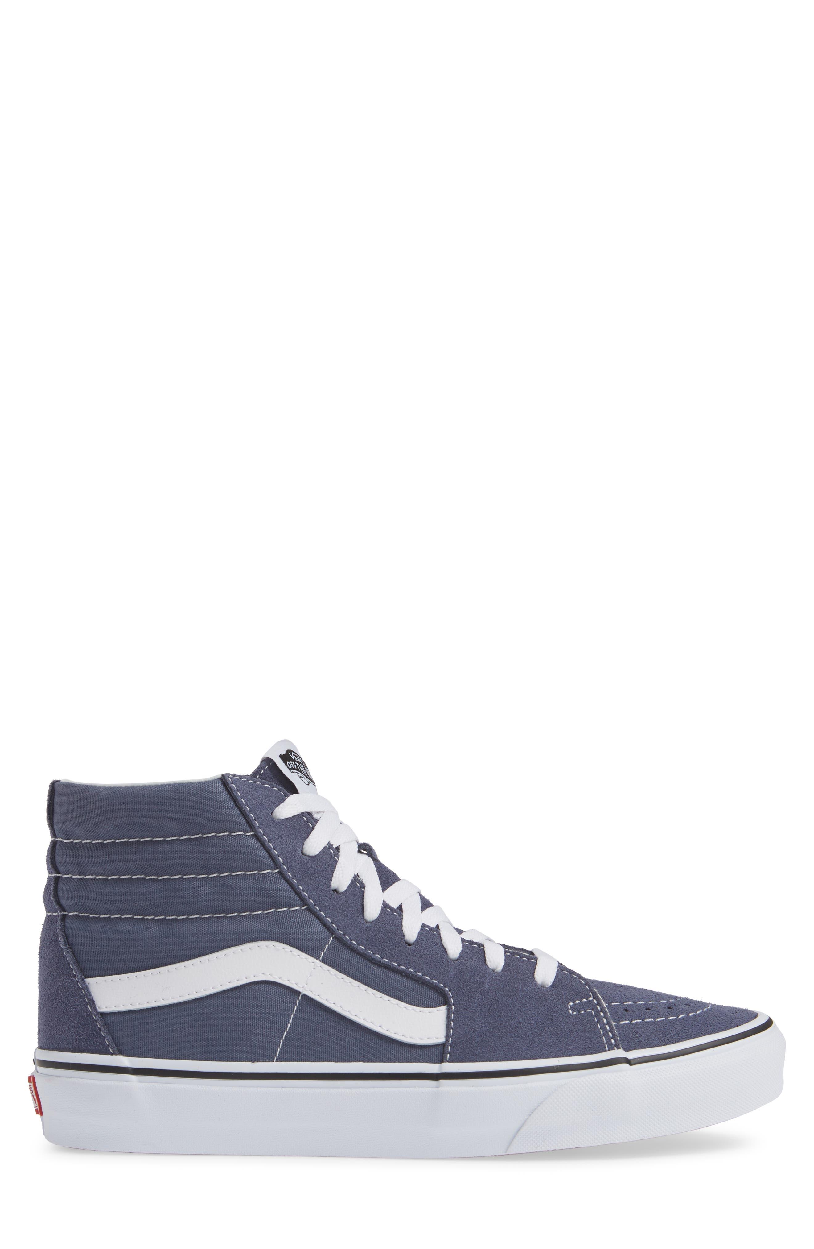'Sk8-Hi' Sneaker,                             Alternate thumbnail 3, color,                             GREY/ TRUE WHITE