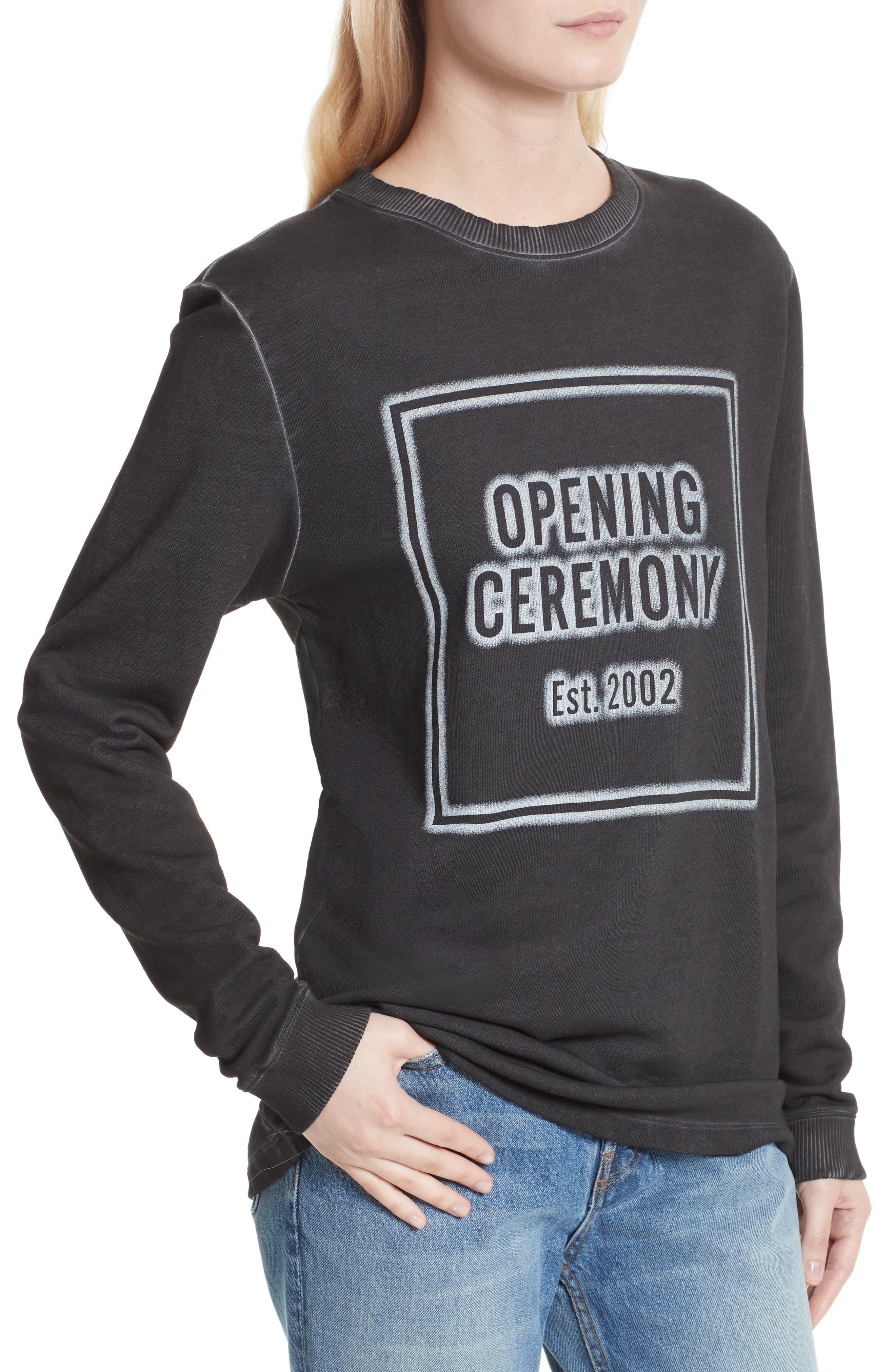 Cozy Stencil Sweatshirt,                             Alternate thumbnail 4, color,                             001
