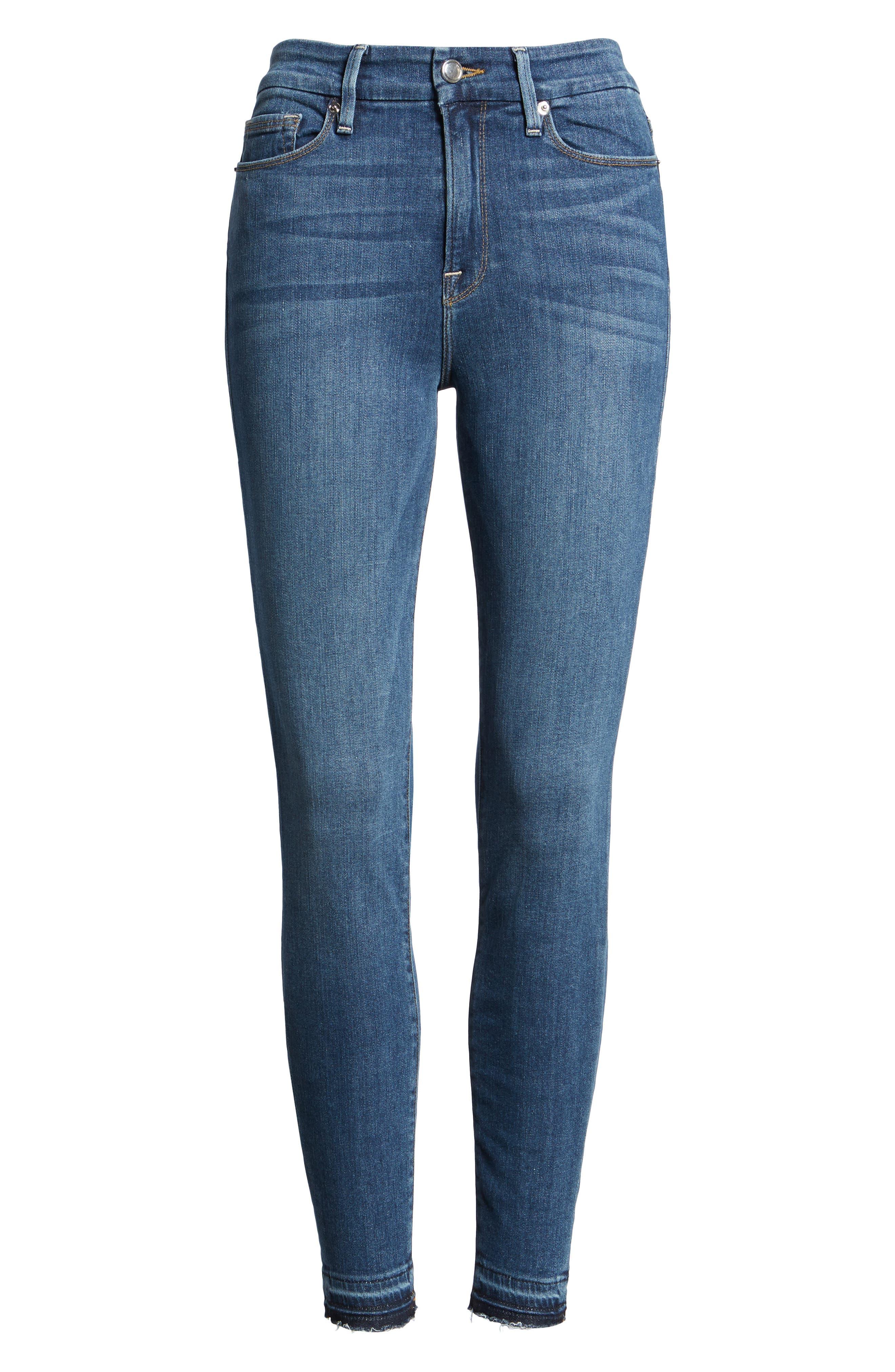 Good Legs High Rise Crop Released Hem Skinny Jeans,                             Alternate thumbnail 2, color,                             401