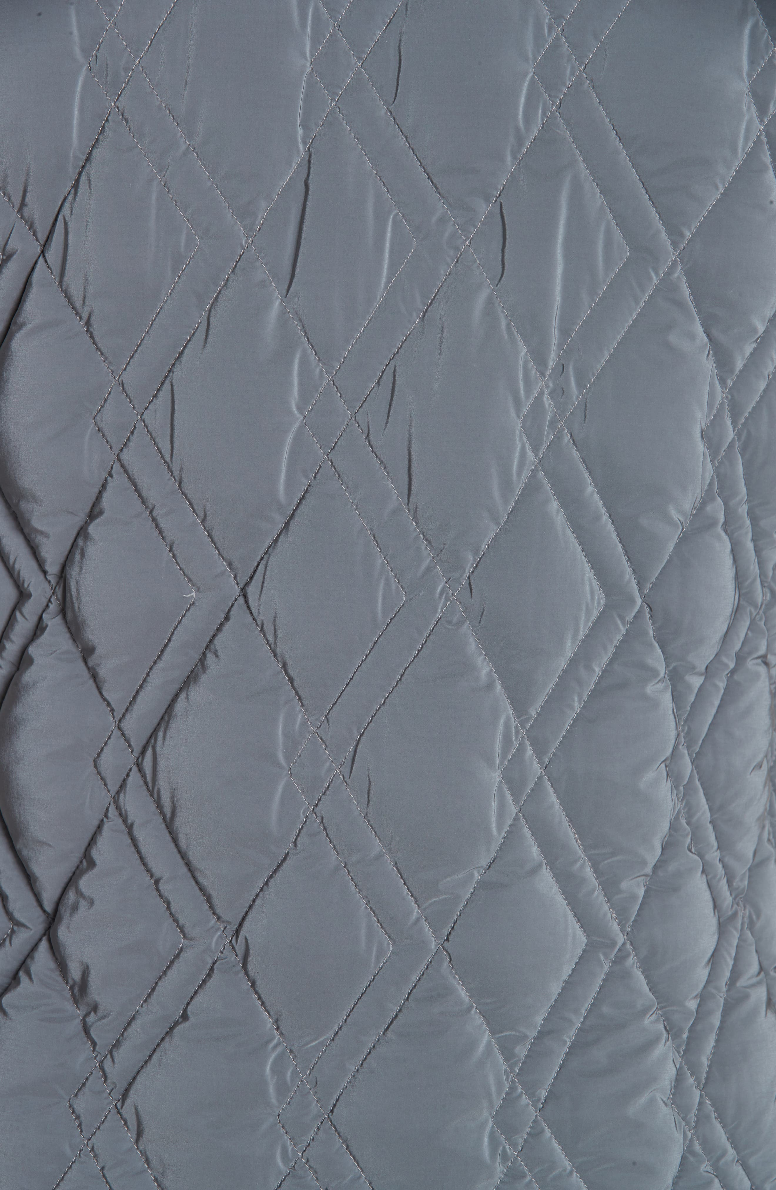 Quilted Down Jacket,                             Alternate thumbnail 5, color,                             GREY