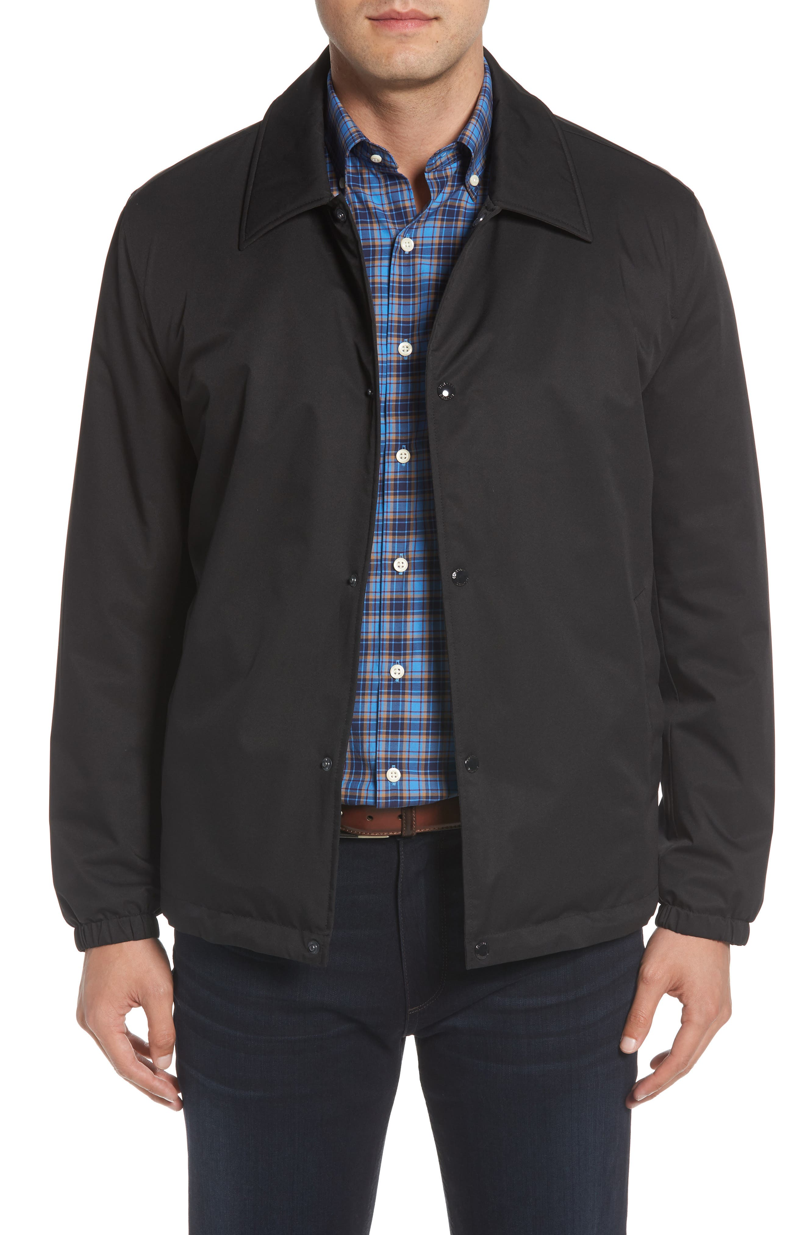 COLE HAAN SIGNATURE Faux Shearling Lined Jacket, Main, color, 001