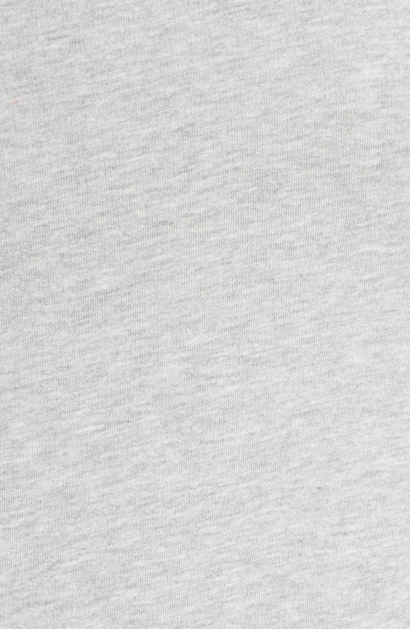 Woven Hem Sweatshirt,                             Alternate thumbnail 5, color,                             030