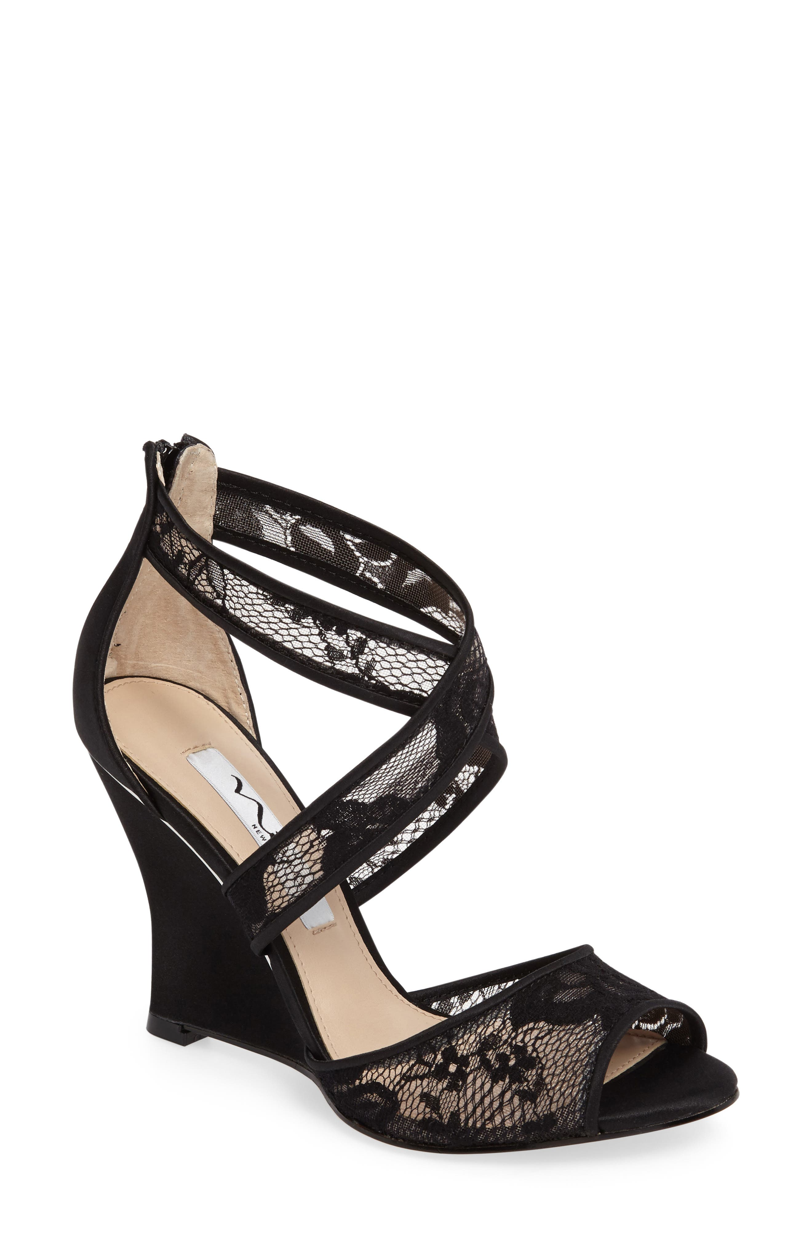 Elyana Strappy Wedge Sandal,                         Main,                         color, 001