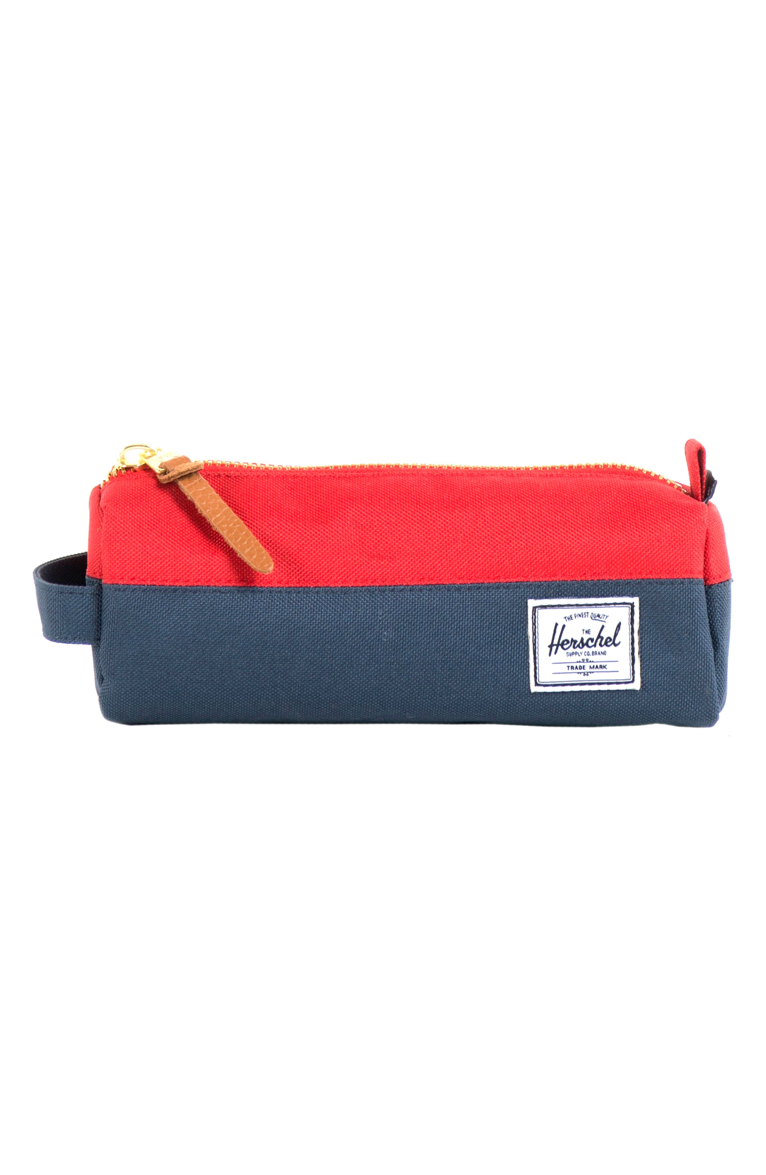 Settlement Travel Case,                         Main,                         color, NAVY/ RED