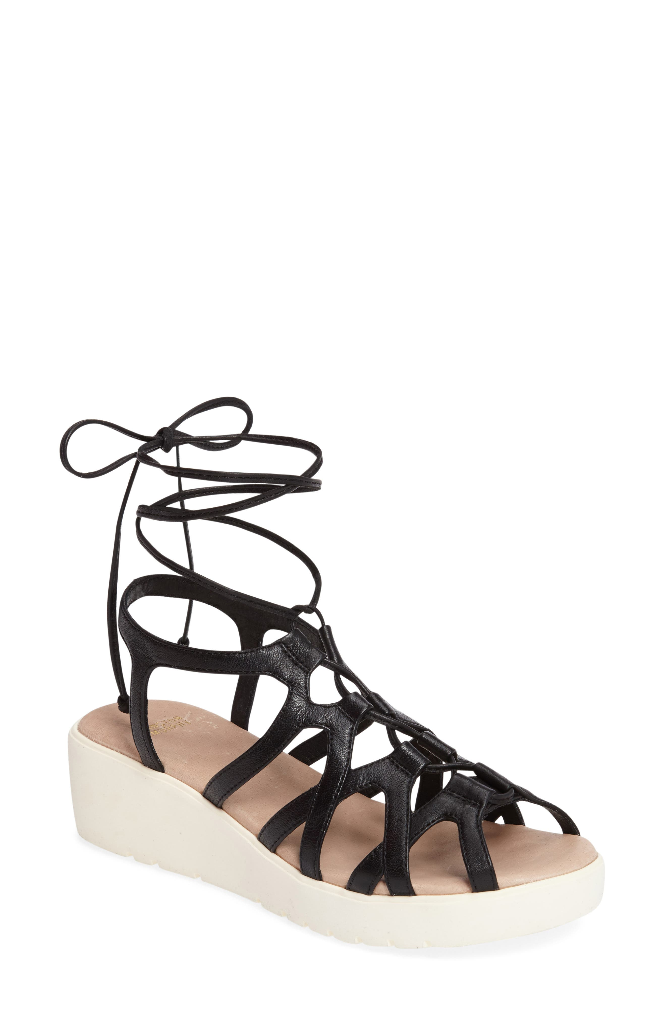 Chasity Sport Sandal,                         Main,                         color, BLACK LEATHER