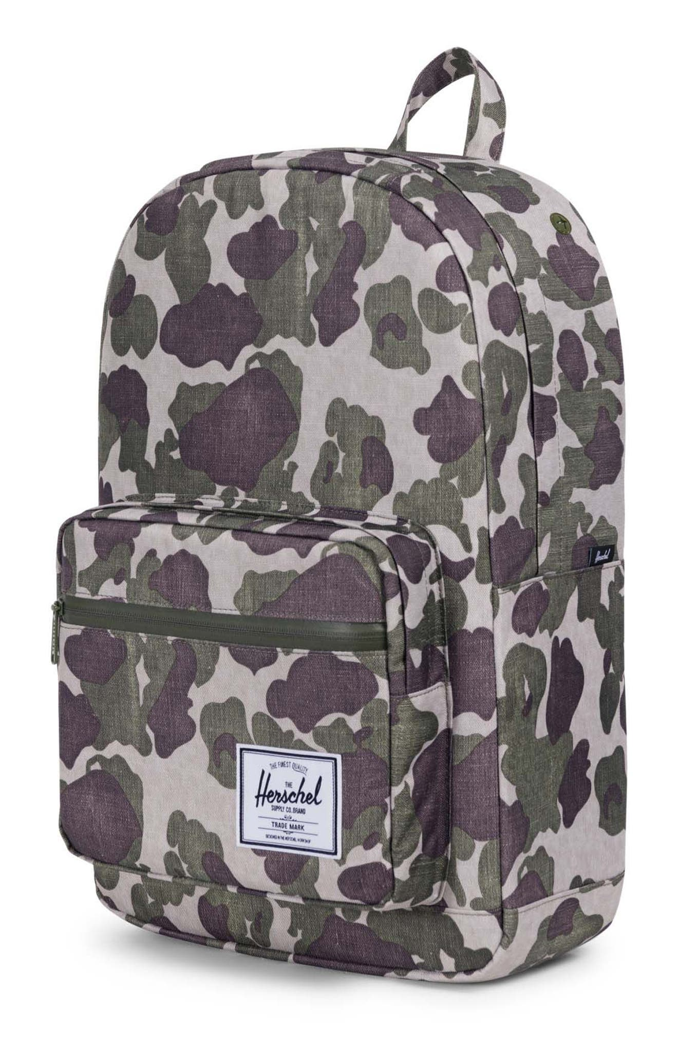 Pop Quiz Backpack,                             Alternate thumbnail 4, color,                             FROG CAMO