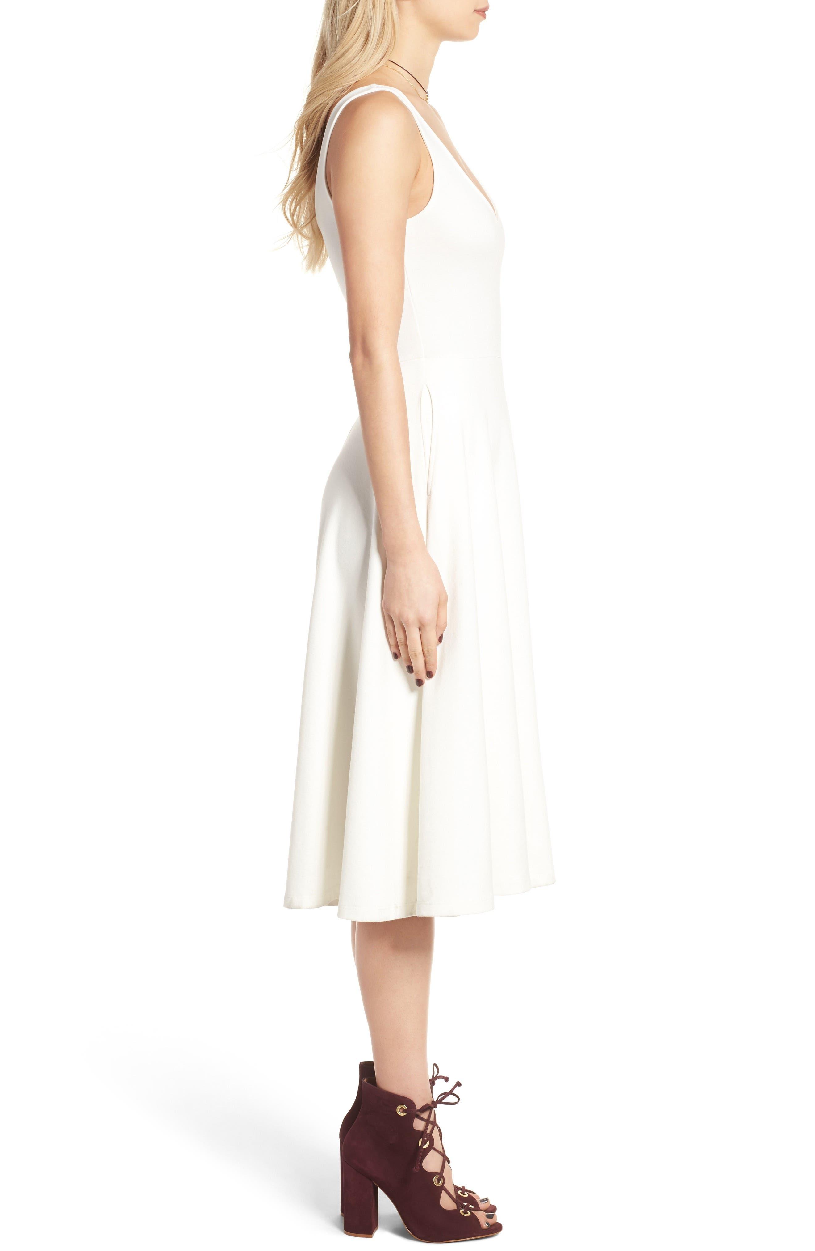 Stretch Knit Midi Dress,                             Alternate thumbnail 33, color,