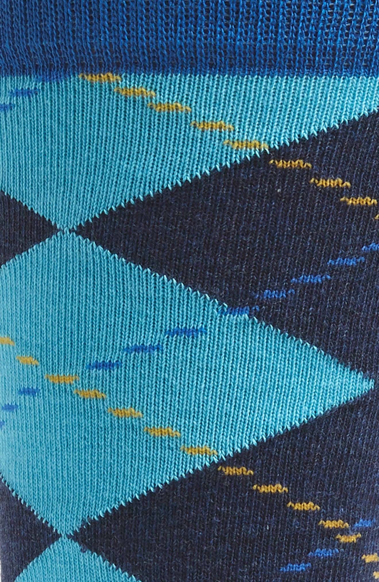 Argyle Socks,                             Alternate thumbnail 2, color,                             BLUE/ YELLOW