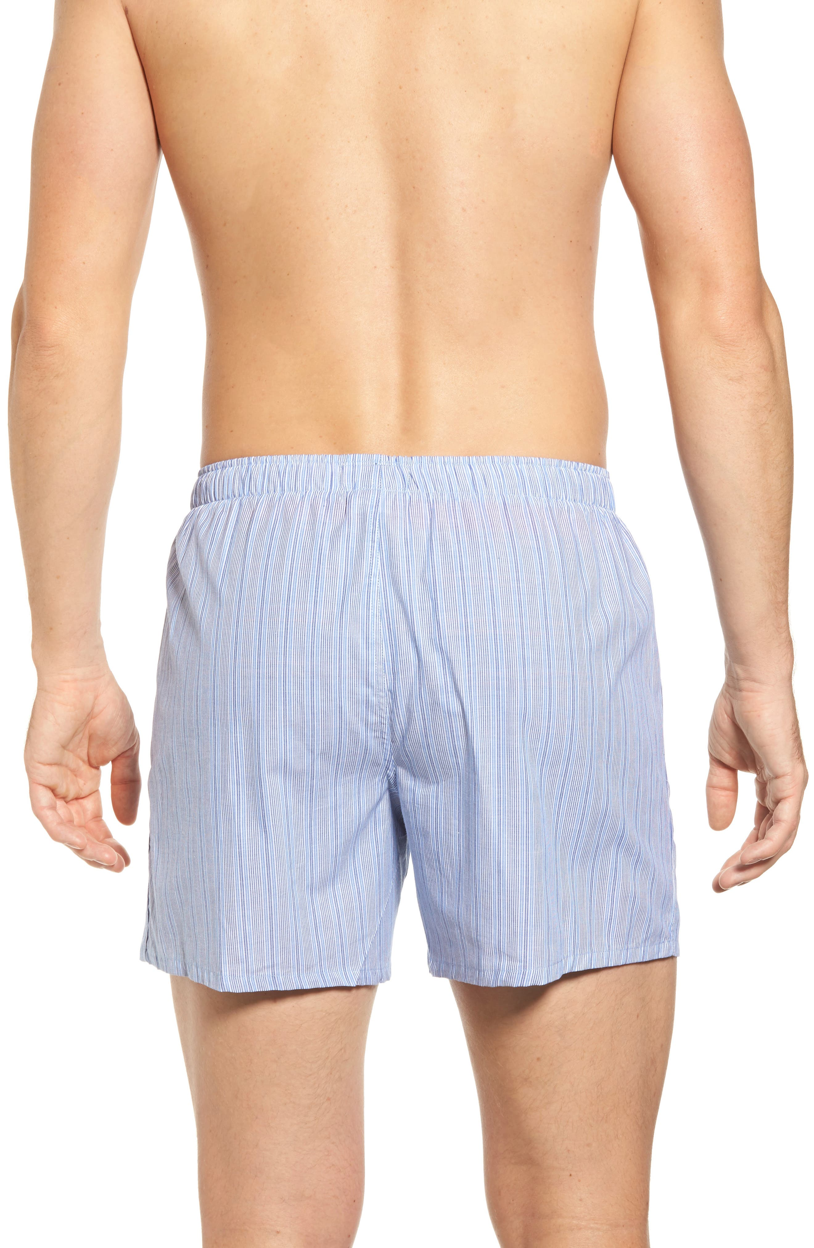 Woven Boxer Shorts,                             Alternate thumbnail 3, color,                             ANDREW BLUE