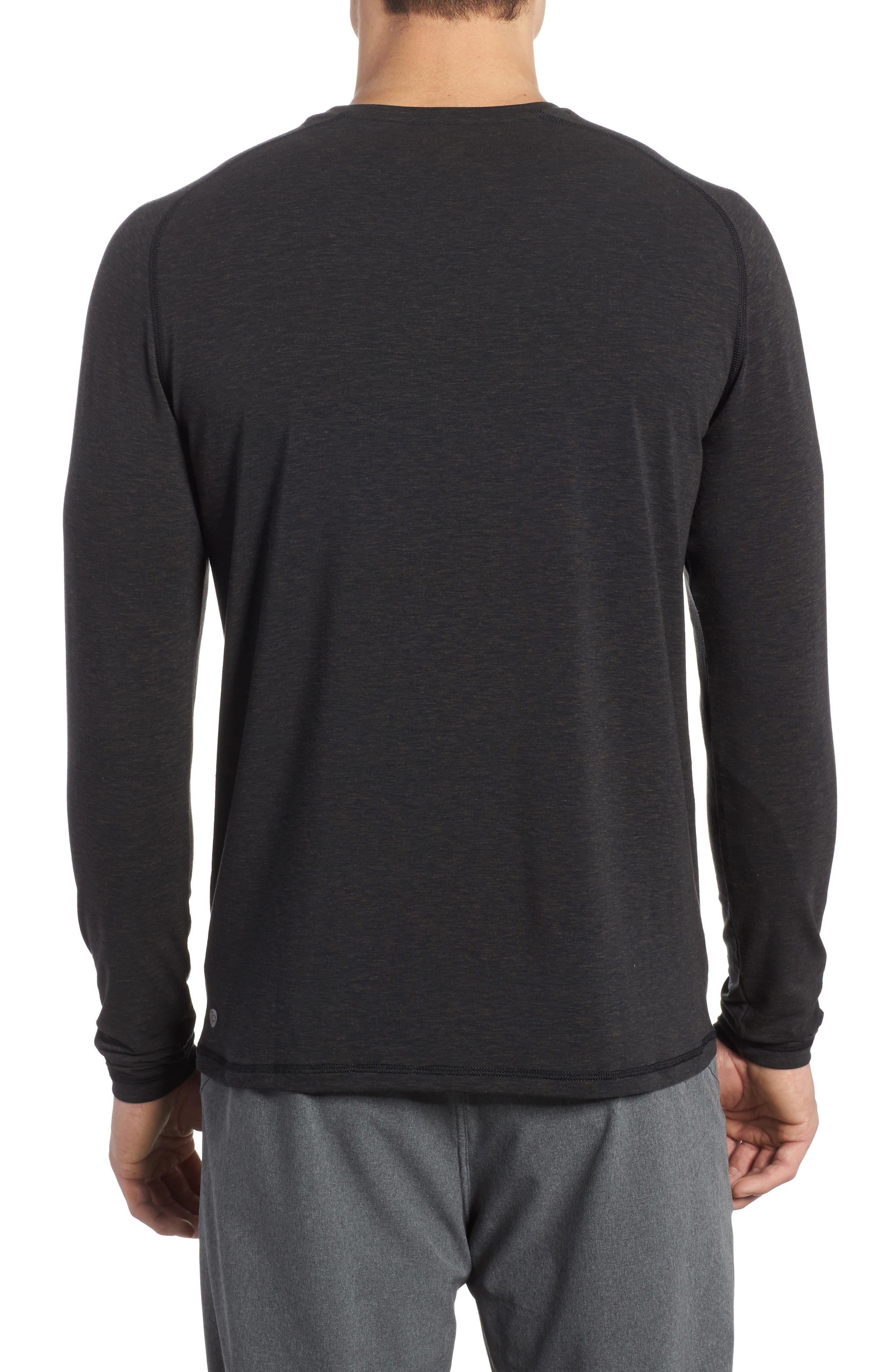 Long Sleeve T-Shirt,                             Alternate thumbnail 2, color,                             BLACK OXIDE HEATHER