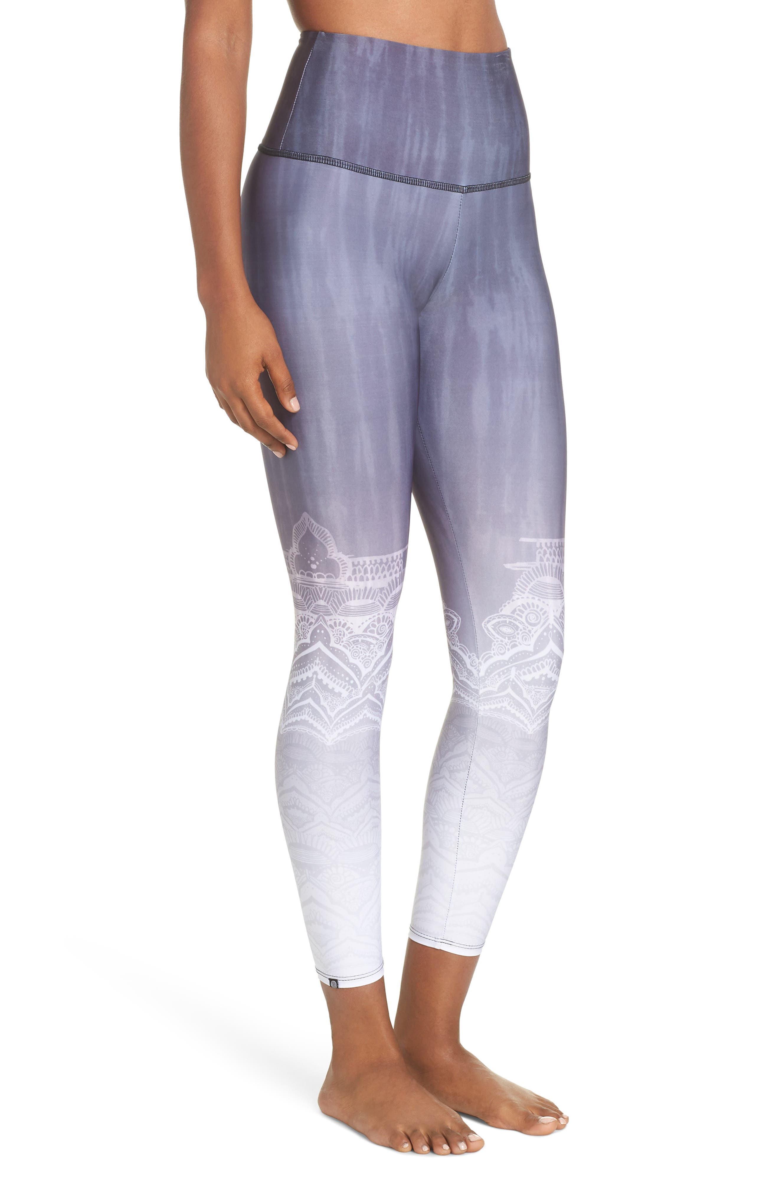 High Waist Leggings,                             Alternate thumbnail 3, color,                             SACRED