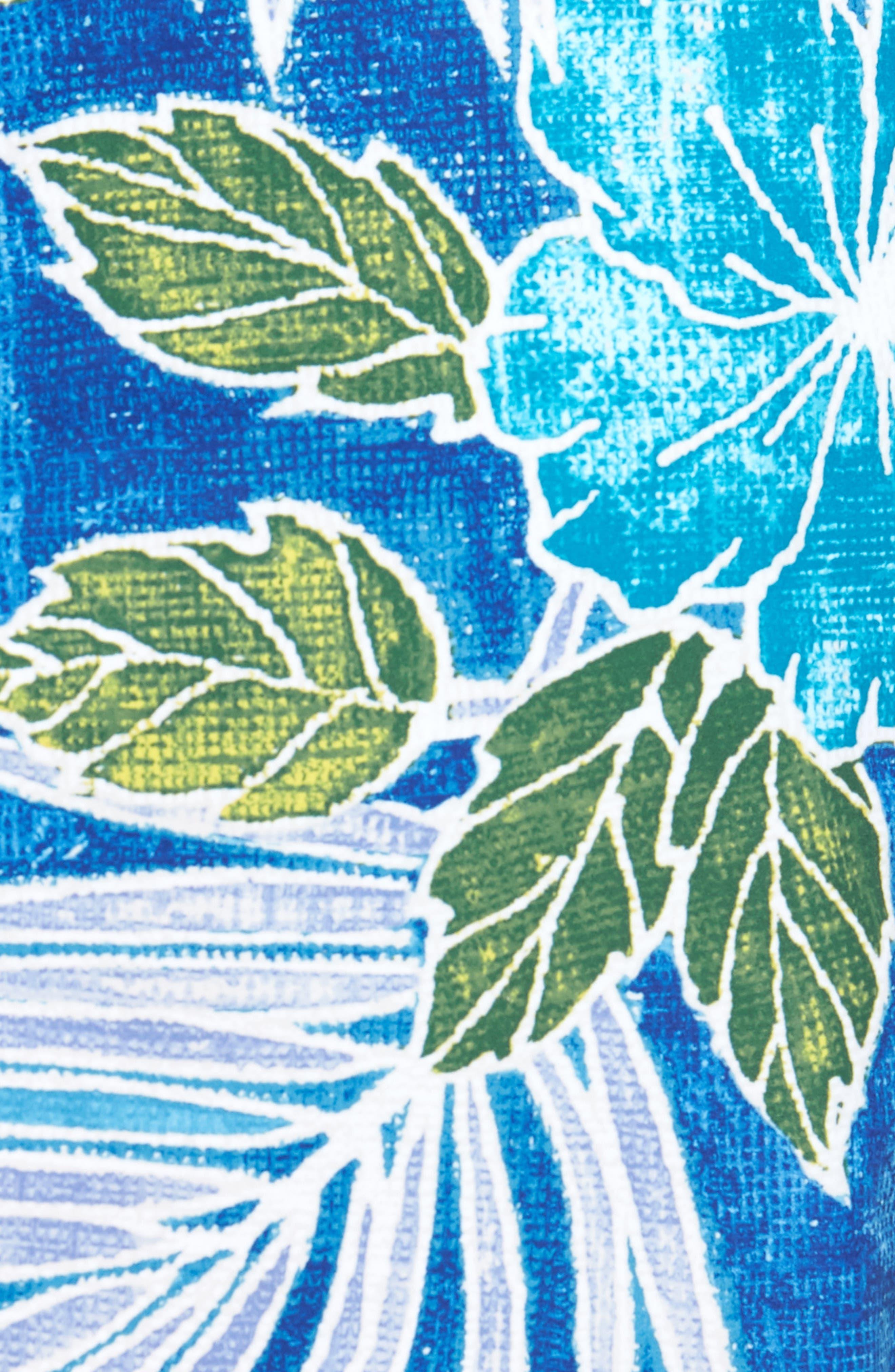 Baja Hibiscus Cove Board Shorts,                             Alternate thumbnail 5, color,                             DARK COBALT