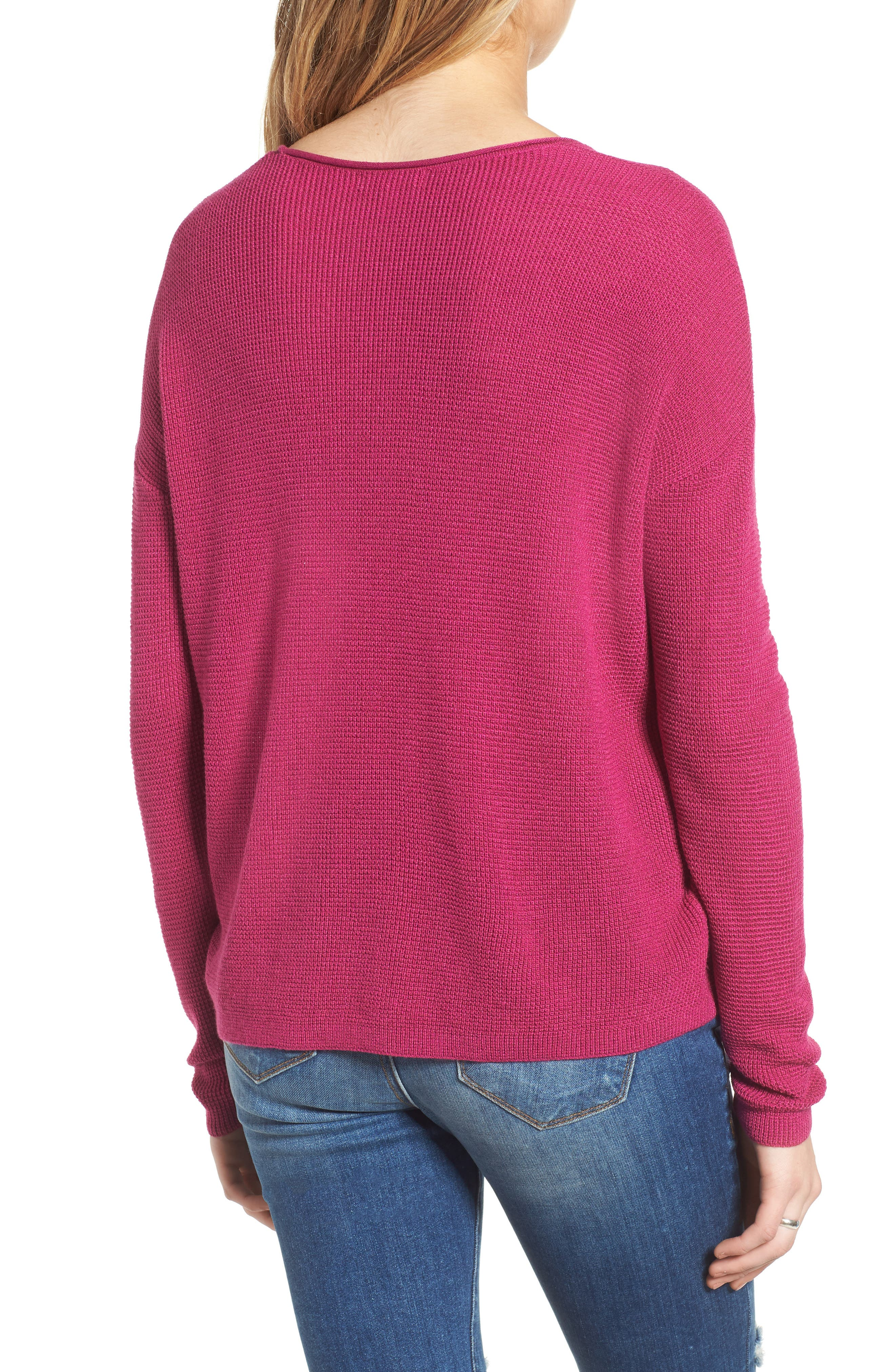 Textured Stitch V-Neck Pullover,                             Alternate thumbnail 2, color,                             651