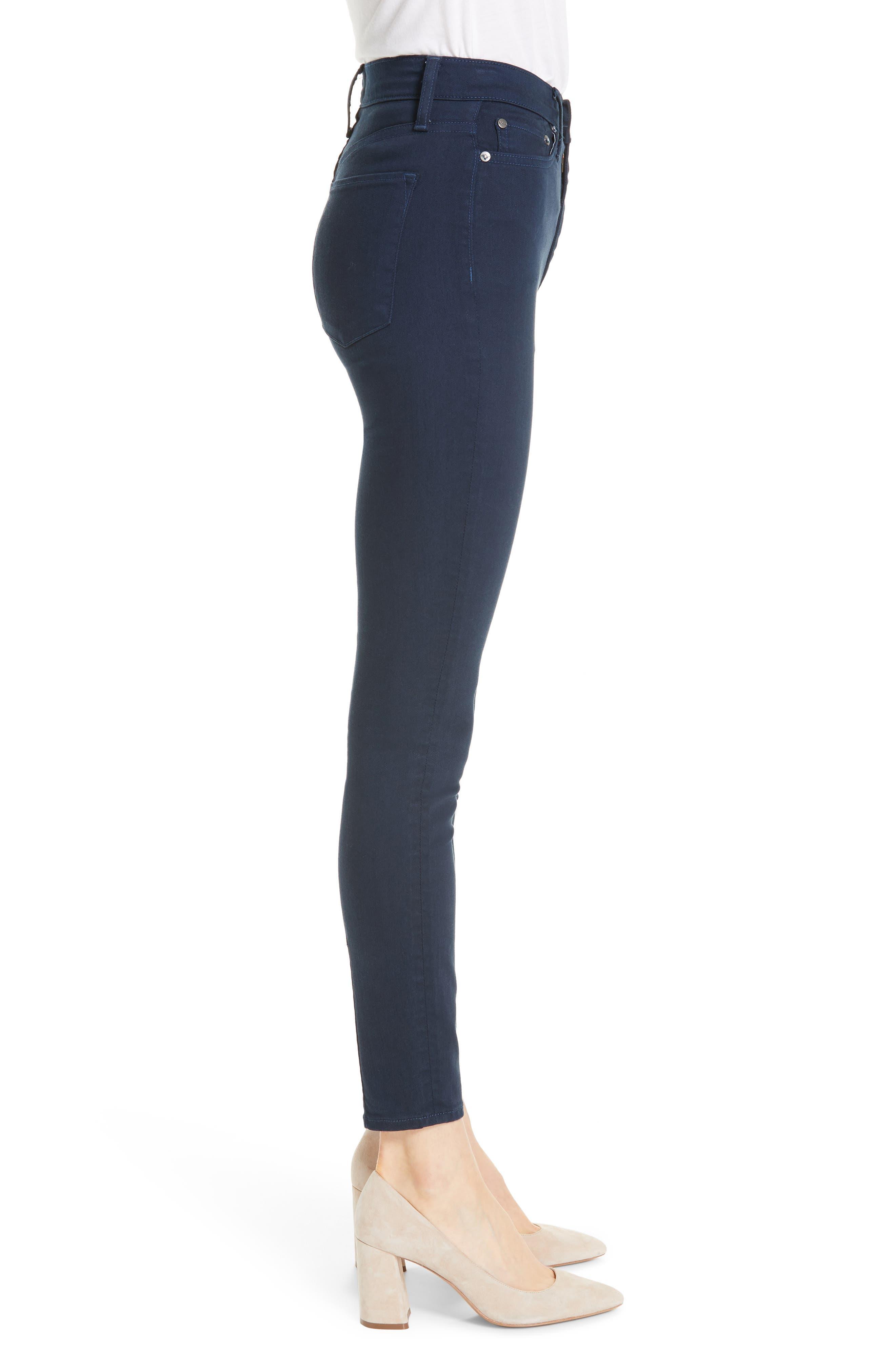 Good High Waist Skinny Jeans,                             Alternate thumbnail 3, color,                             400