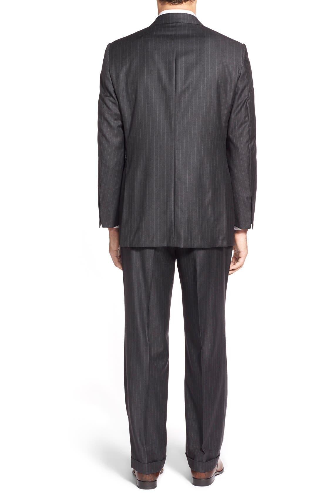 'Addison - A Series' Classic Fit Stripe Wool Suit,                             Alternate thumbnail 6, color,                             031