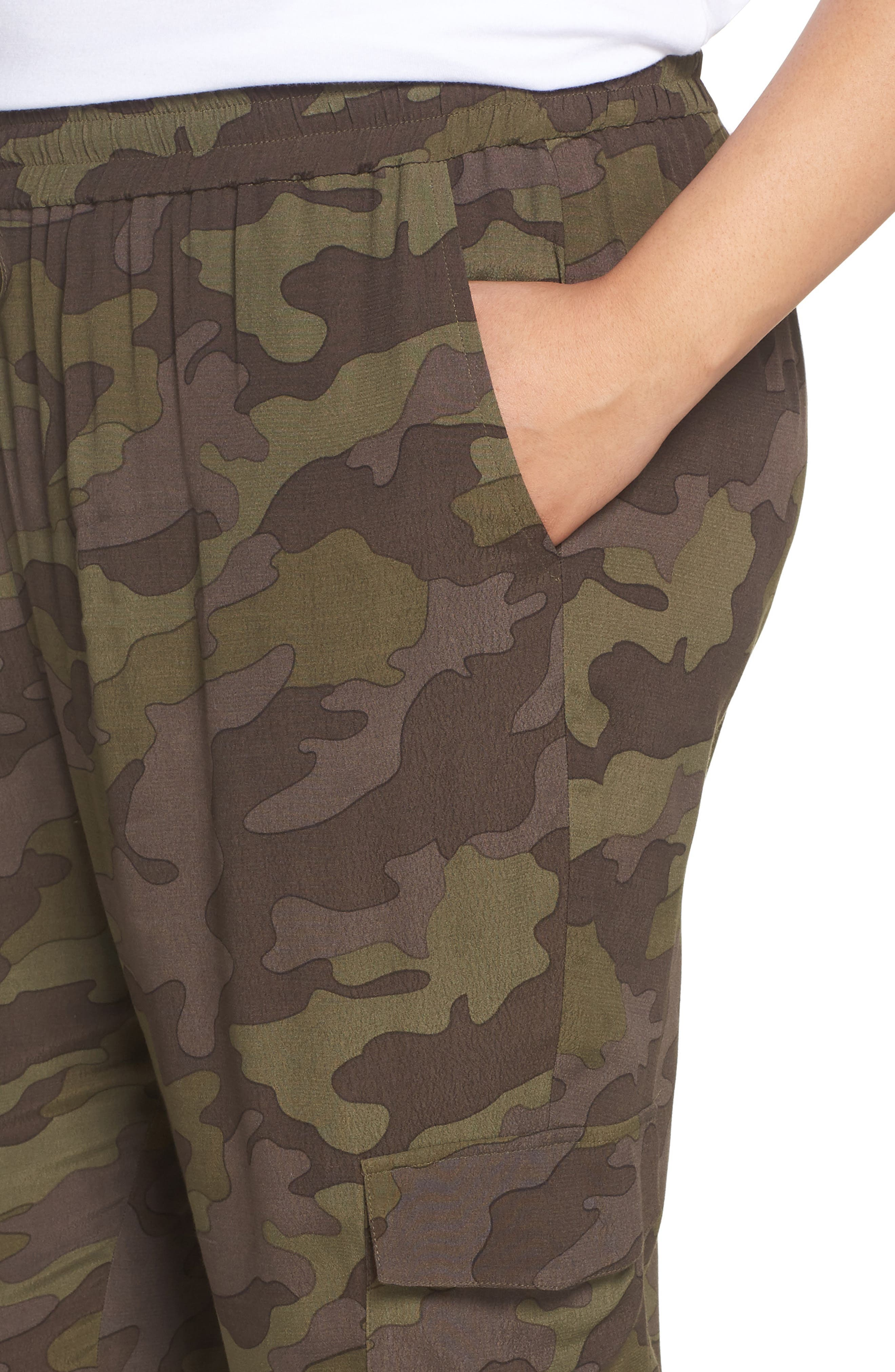 High Rise Camouflage Cargo Pants,                             Alternate thumbnail 10, color,                             210
