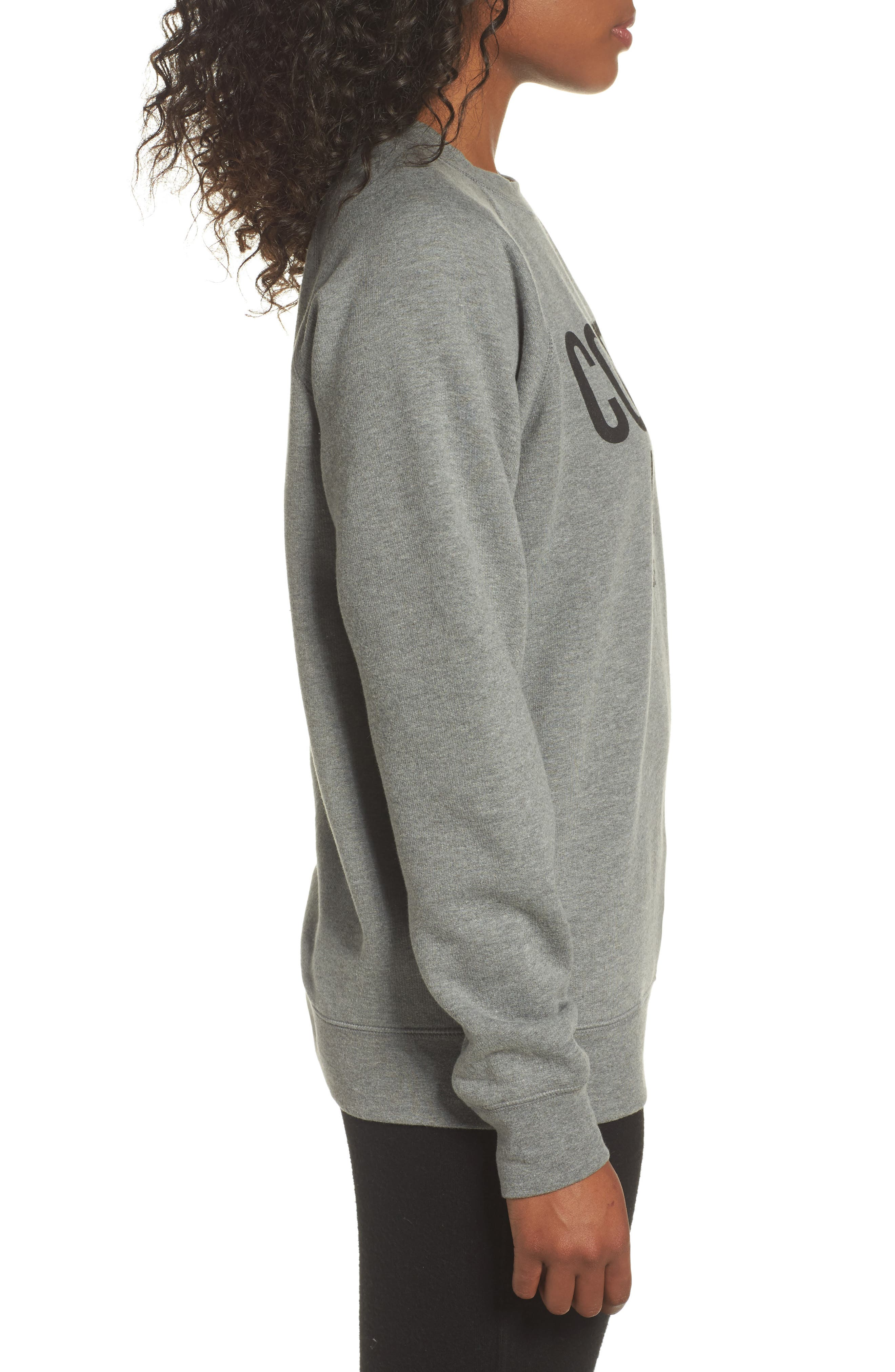 Coffee Now Lounge Sweatshirt,                             Alternate thumbnail 3, color,
