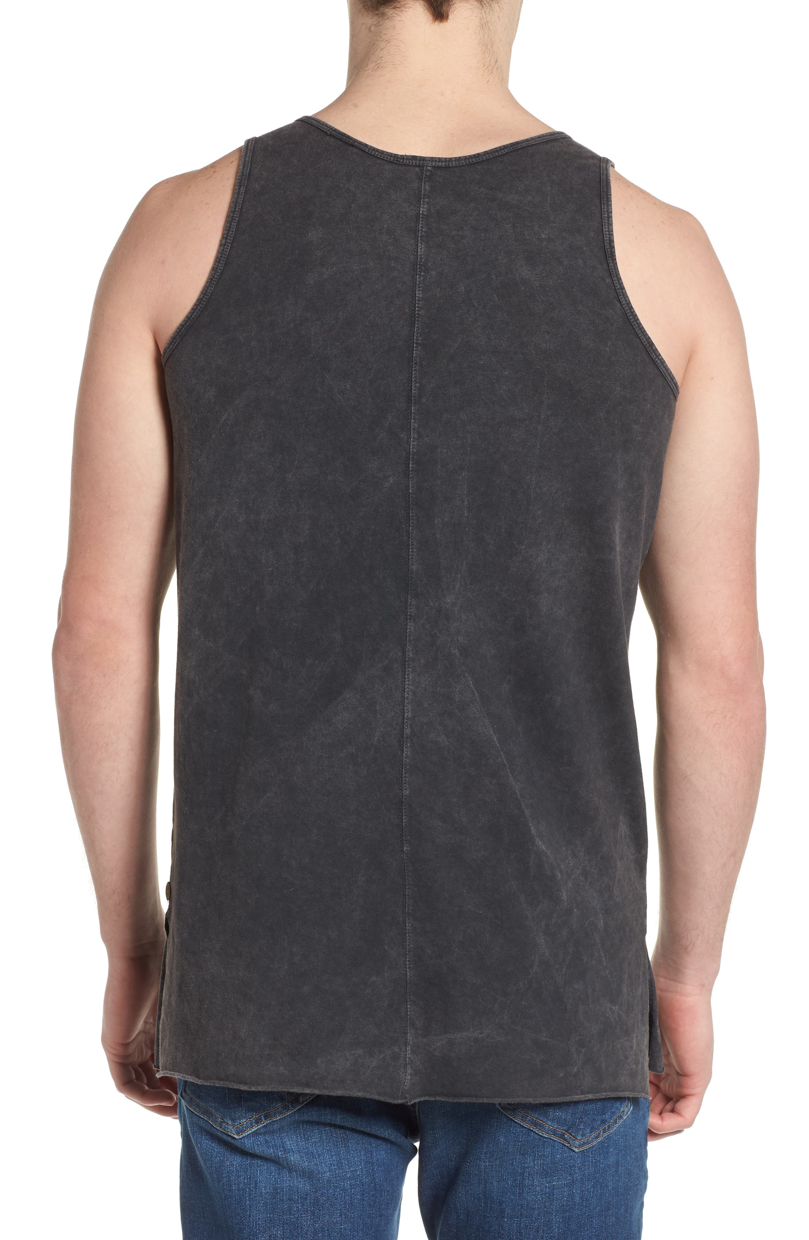 Seamed Tank,                             Alternate thumbnail 2, color,                             CHARCOAL