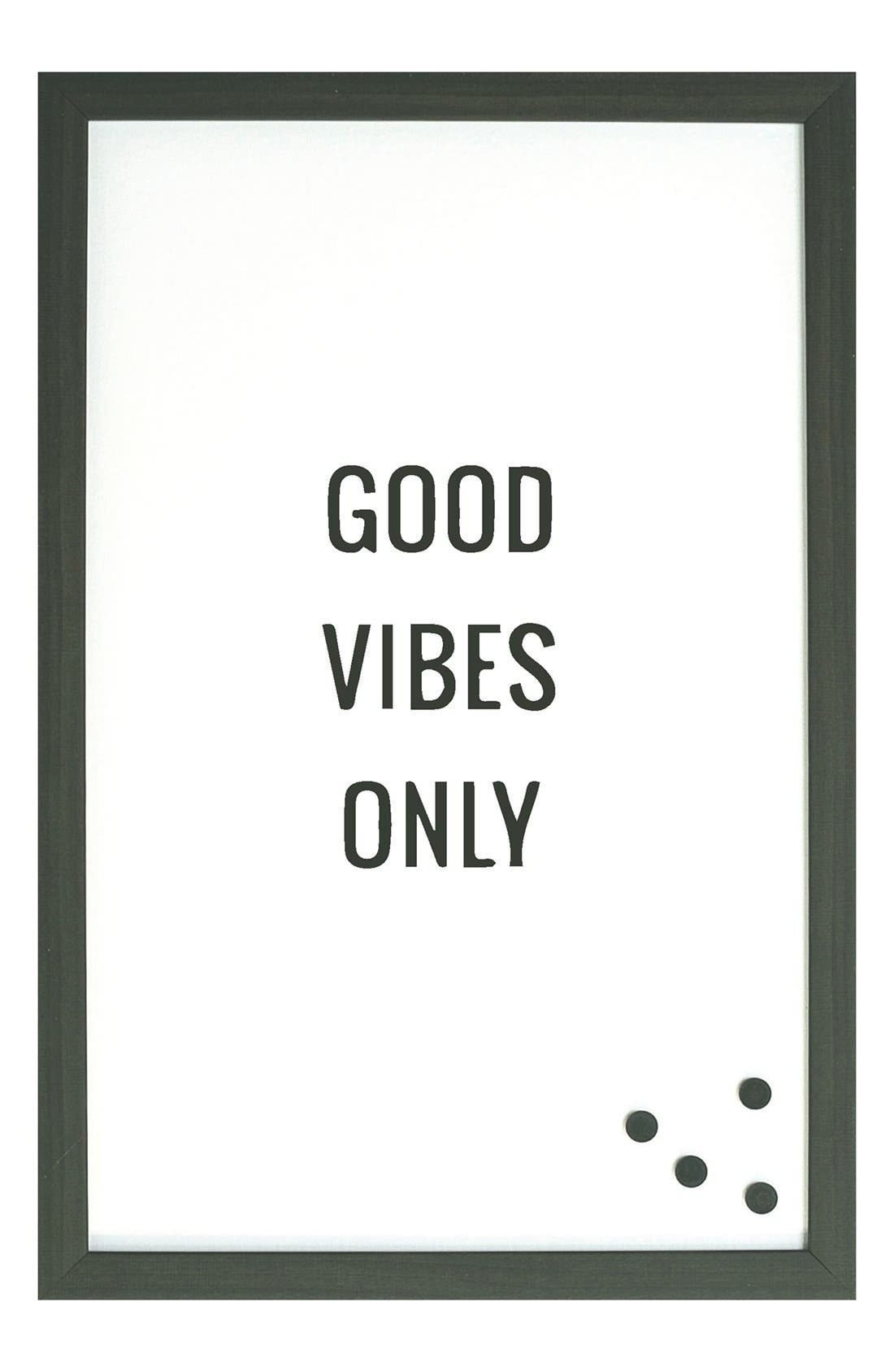 'Good Vibes Only' Magnet Board,                             Main thumbnail 1, color,                             001