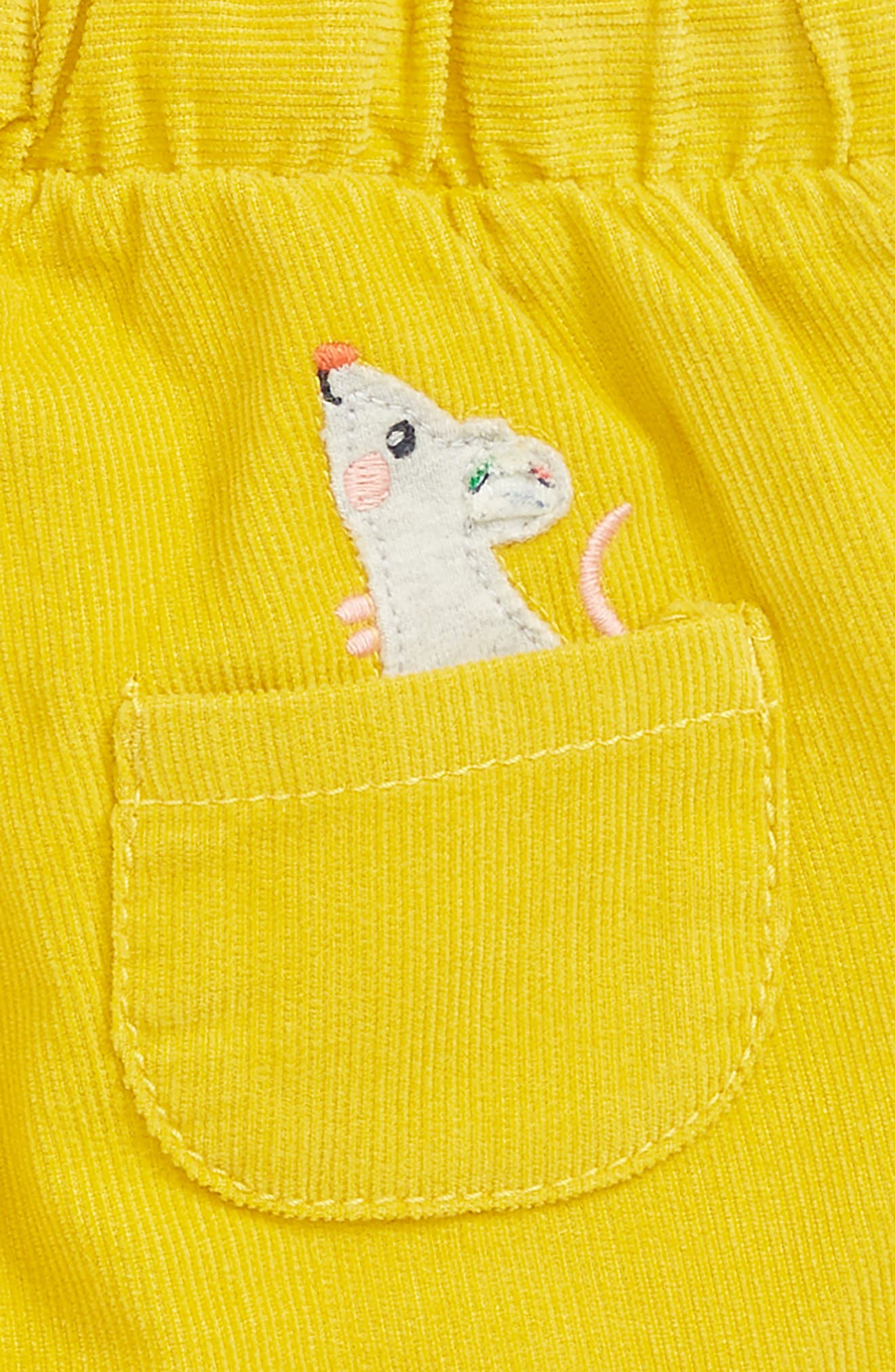 Appliqué Pocket Pants,                             Alternate thumbnail 3, color,                             HONEYCOMB/ MOUSE
