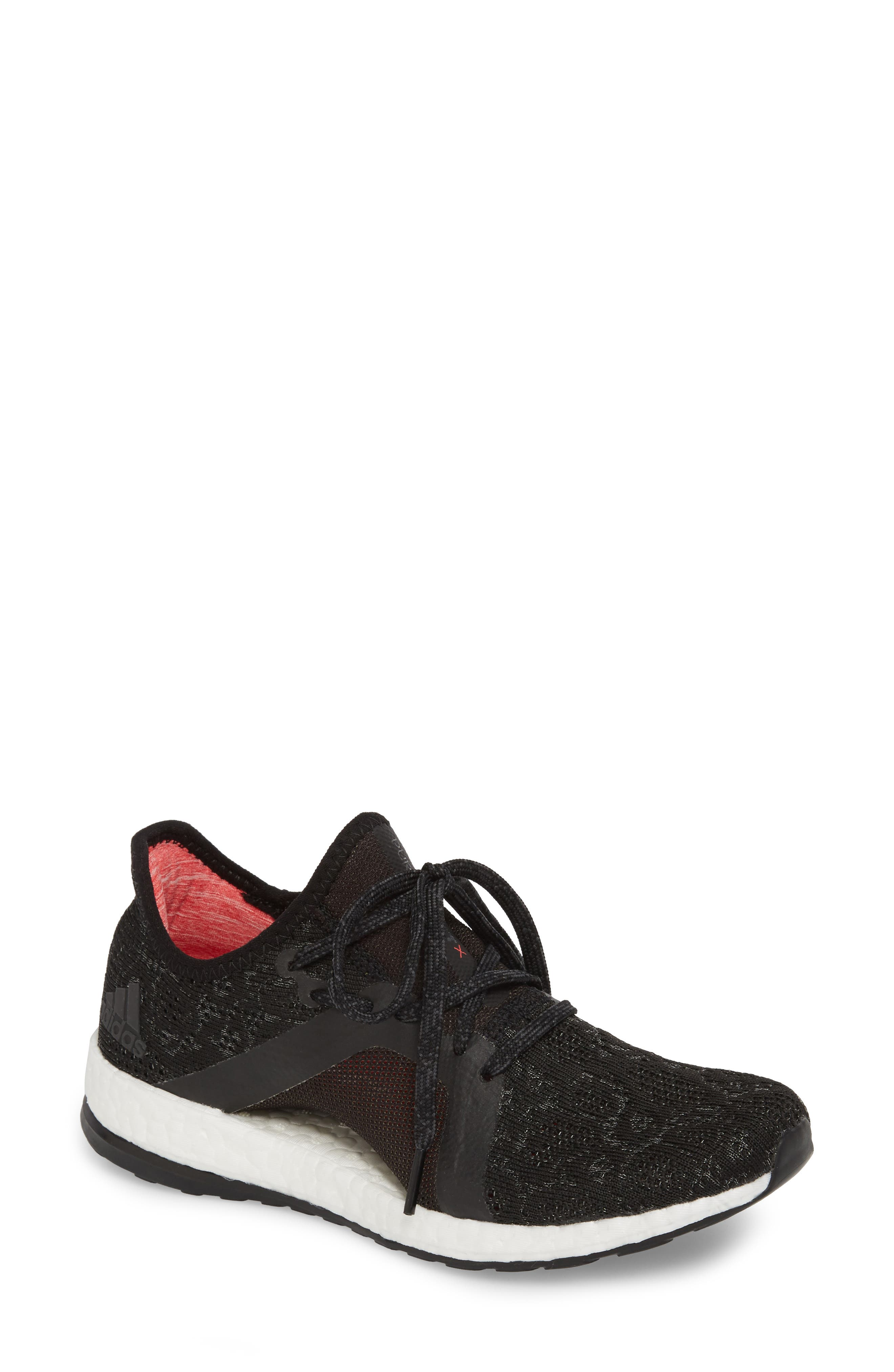PureBoost X Element Knit Running Shoe, Main, color, 002