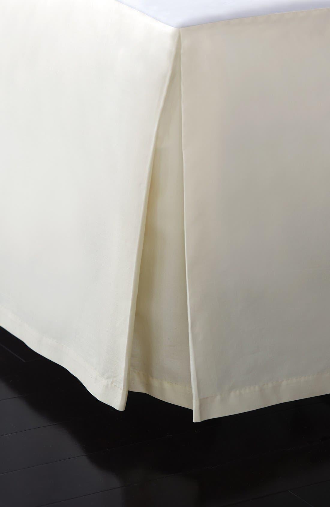 DONNA KARAN NEW YORK,                             Donna Karan Collection 'Reflection' 510 Thread Count Bed Skirt,                             Main thumbnail 1, color,                             IVORY