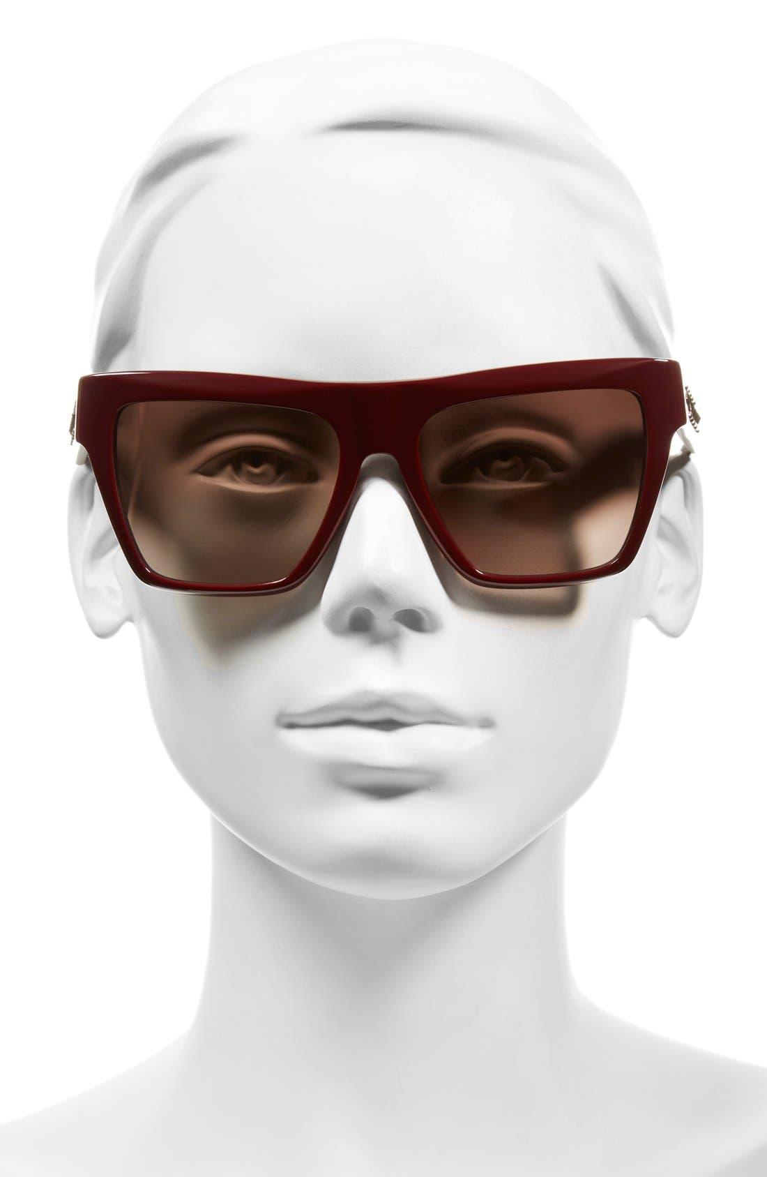 55mm Studded Navigator Sunglasses,                             Alternate thumbnail 6, color,