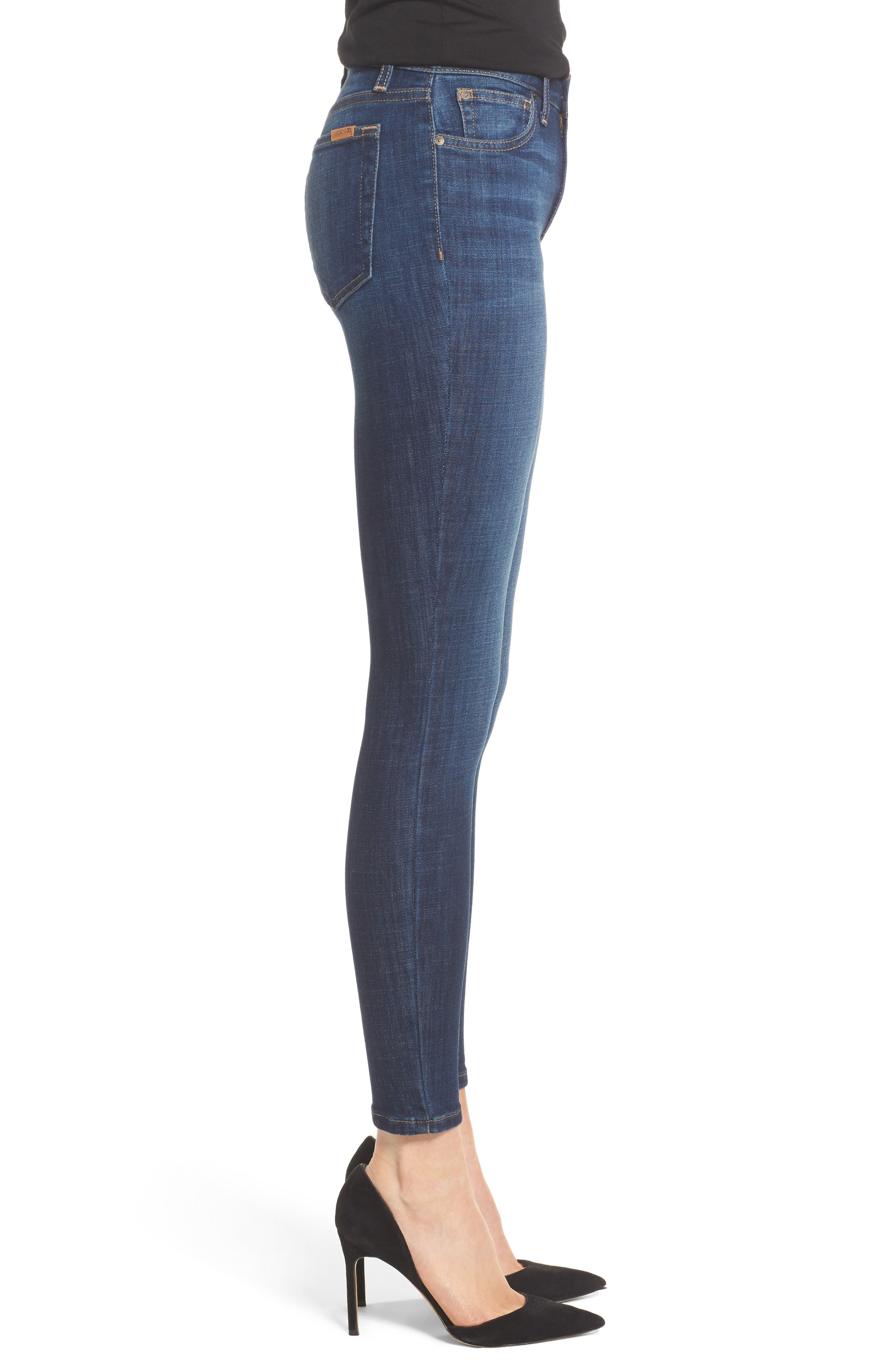 Flawless - Icon Skinny Ankle Jeans,                             Alternate thumbnail 3, color,                             400