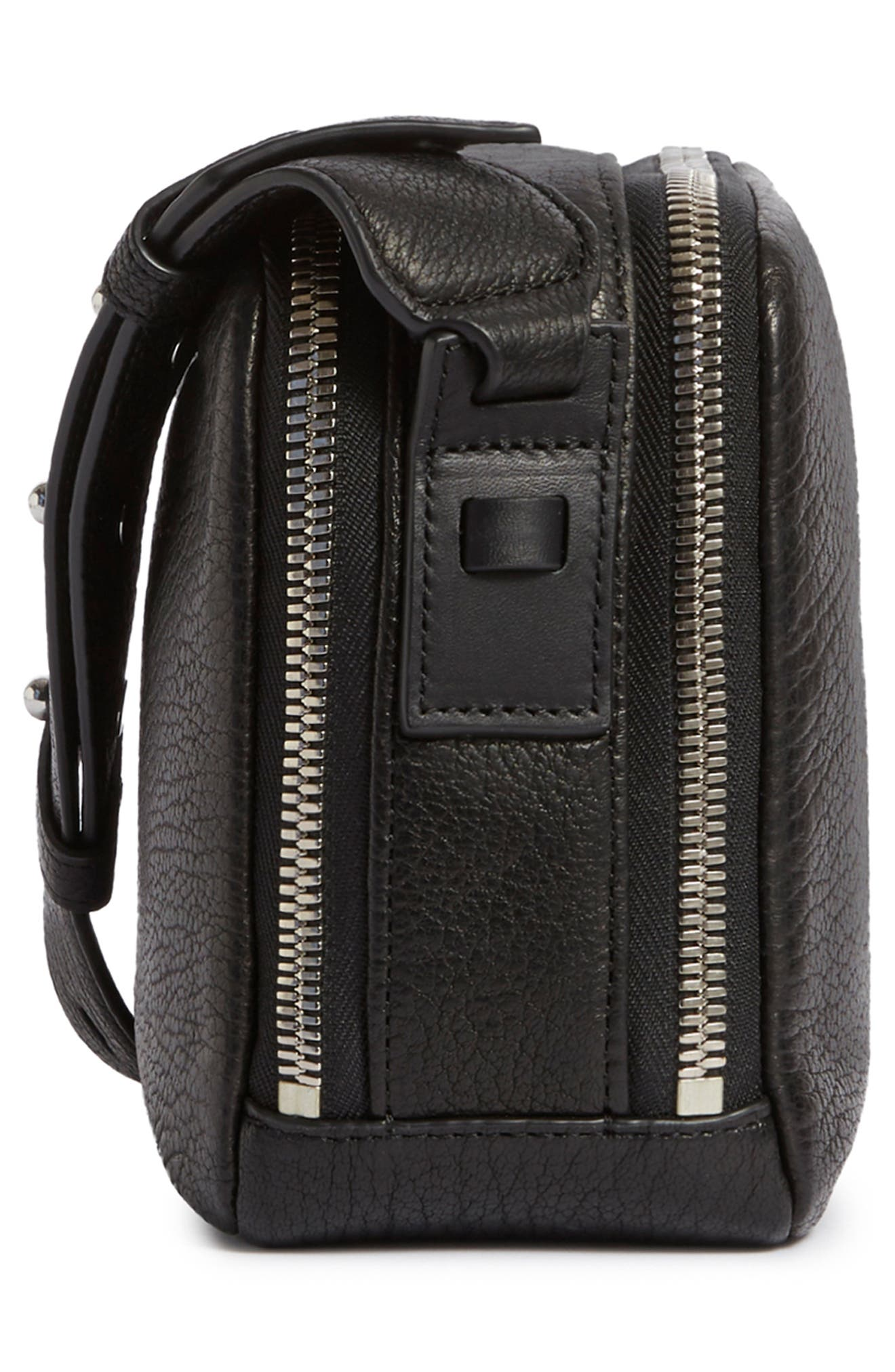 Vincent Leather Crossbody Bag,                             Alternate thumbnail 4, color,                             001