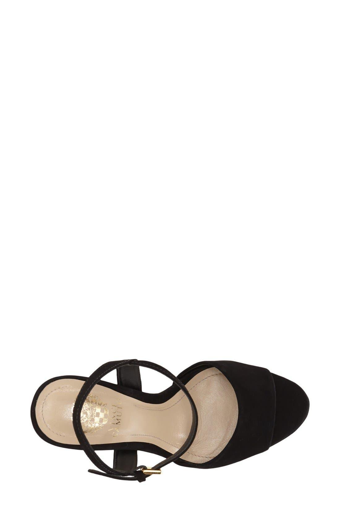 'Krysta' Platform Sandal,                             Alternate thumbnail 2, color,                             001