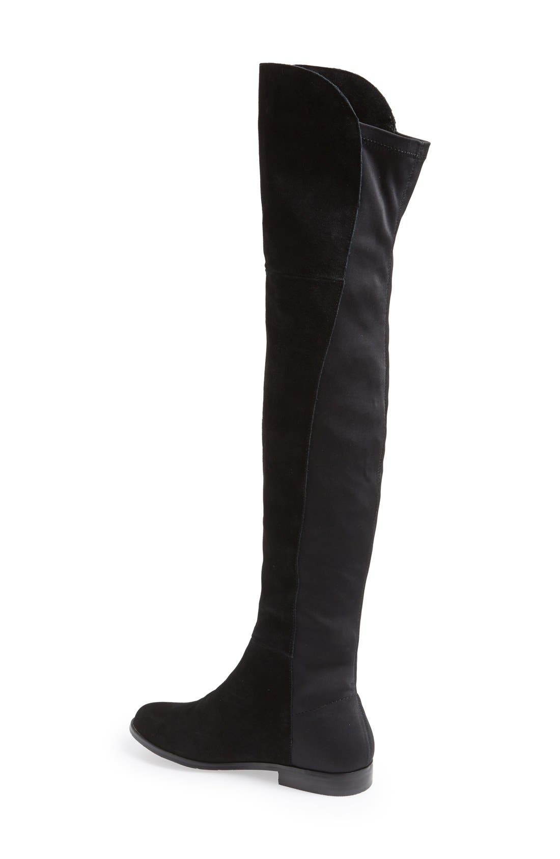 'Riley' Stretch Back Suede Over The Knee Boot,                             Alternate thumbnail 2, color,                             001