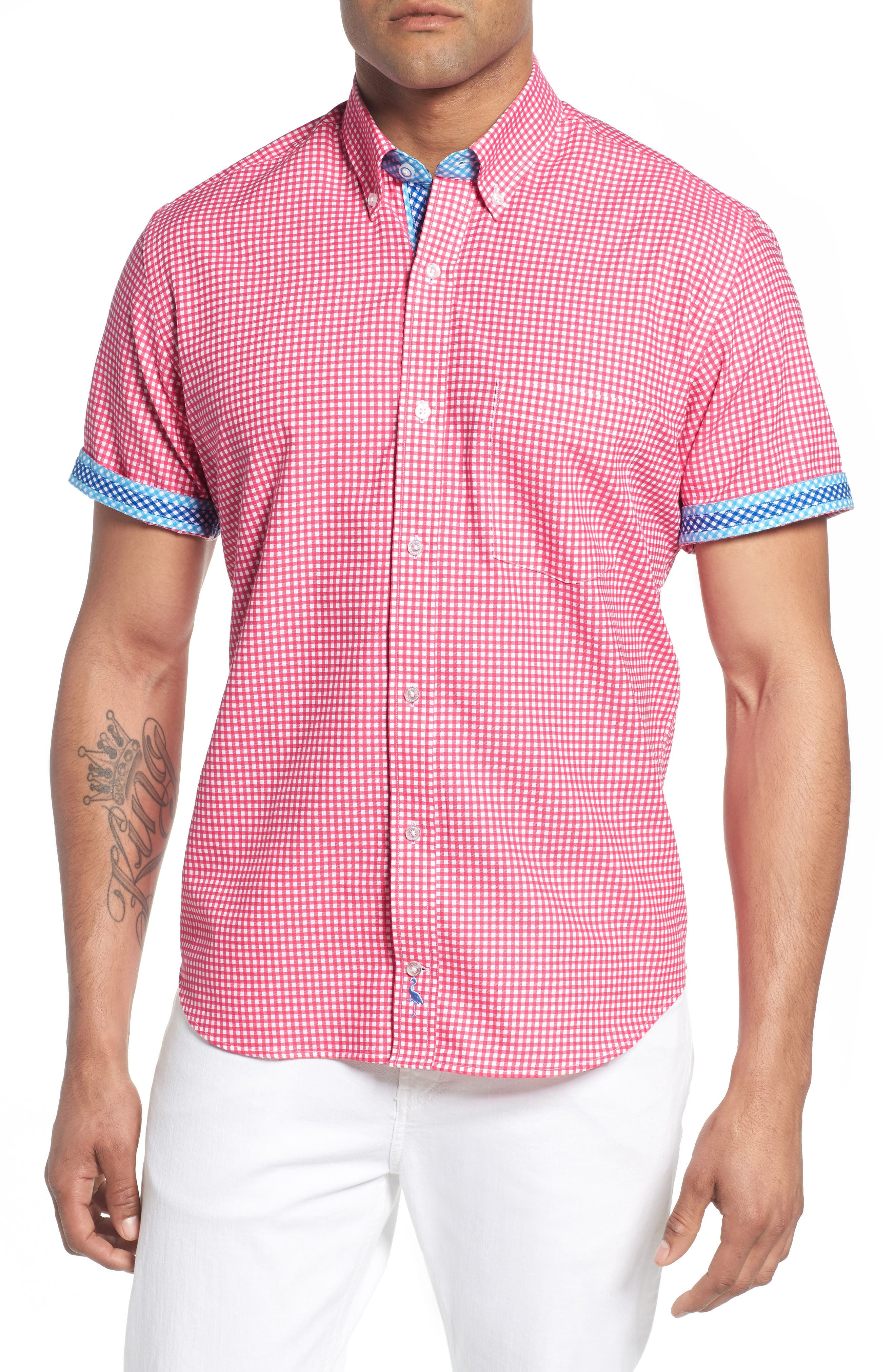 Aden Regular Fit Sport Shirt,                             Alternate thumbnail 4, color,                             950