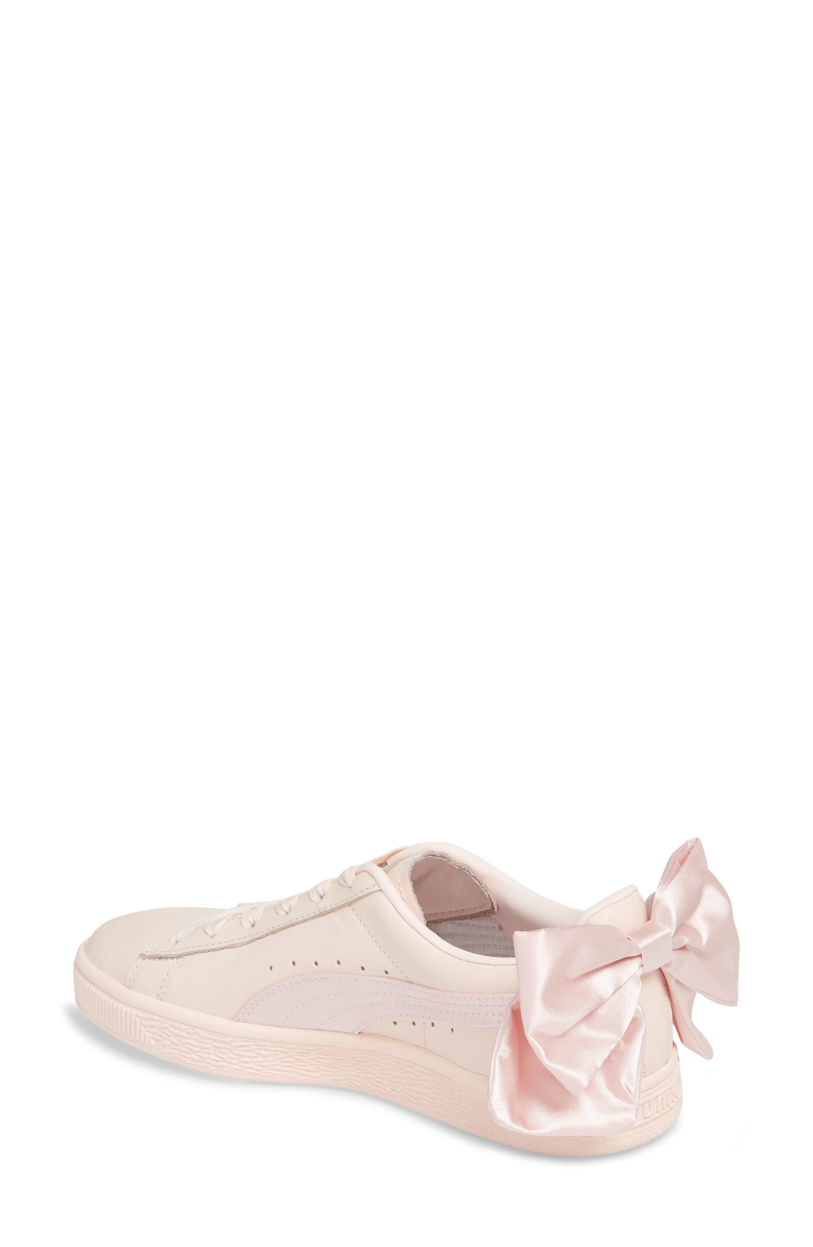 Basket Bow Sneaker,                             Alternate thumbnail 2, color,                             PEARL/ PEARL