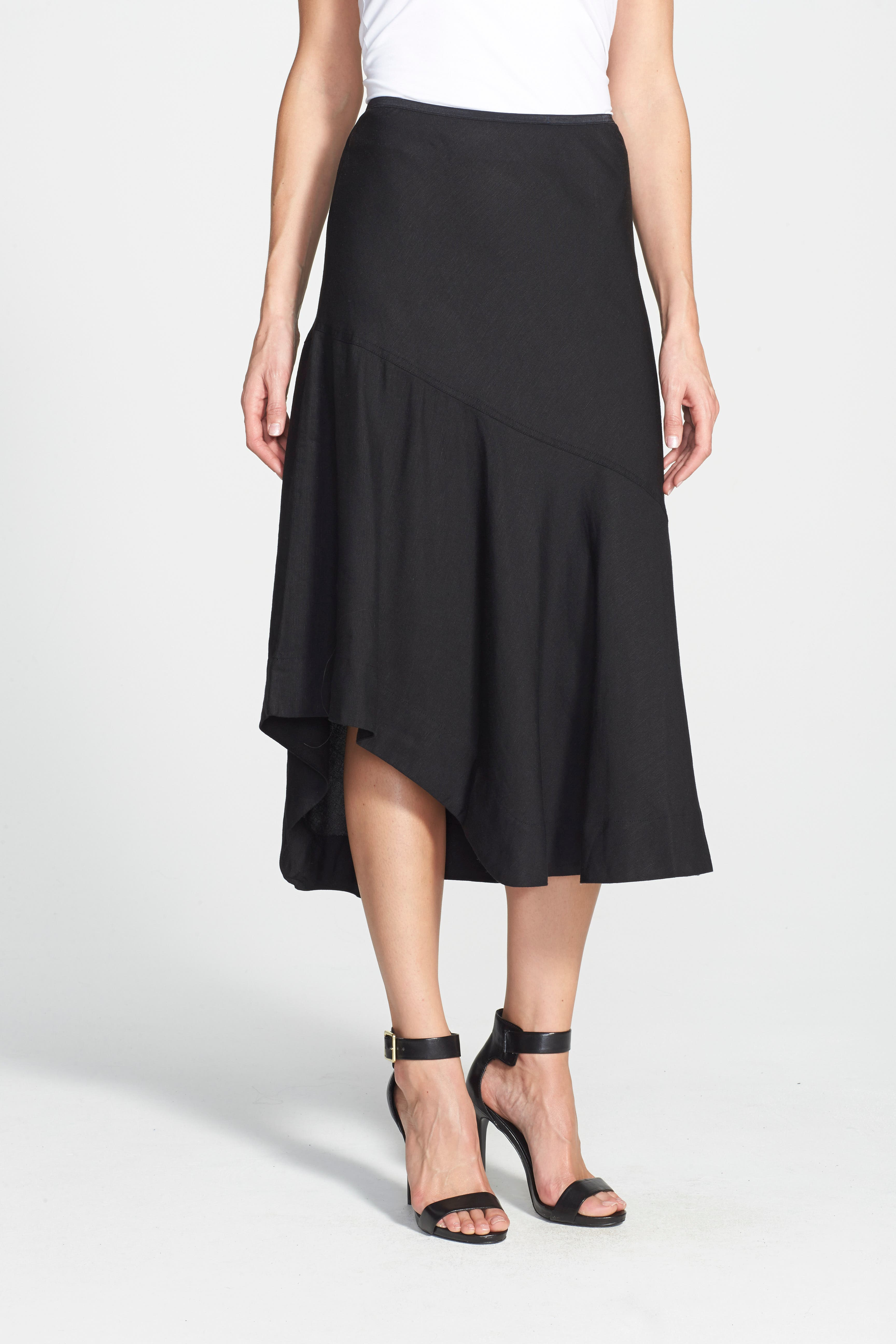 NIC+ZOE,                             'The Long Engagement' Midi Skirt,                             Alternate thumbnail 5, color,                             004