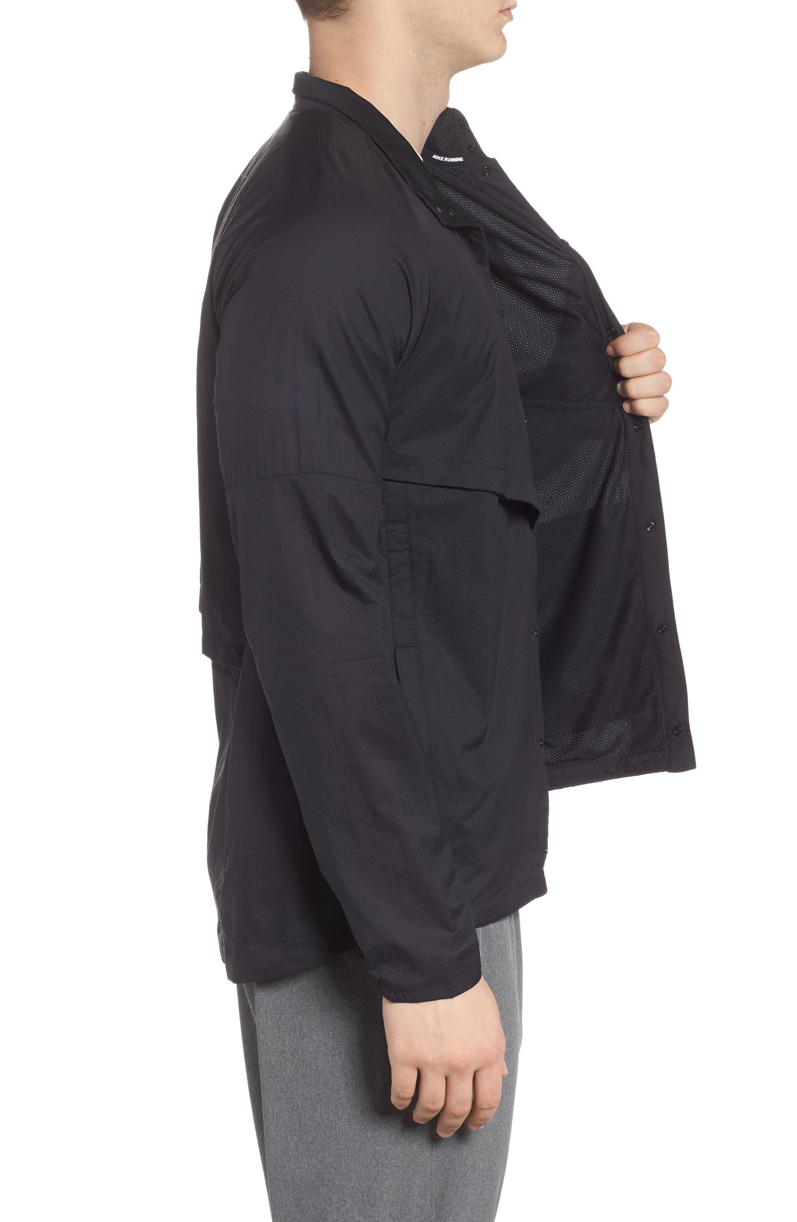 Run Division Jacket,                             Alternate thumbnail 3, color,                             BLACK