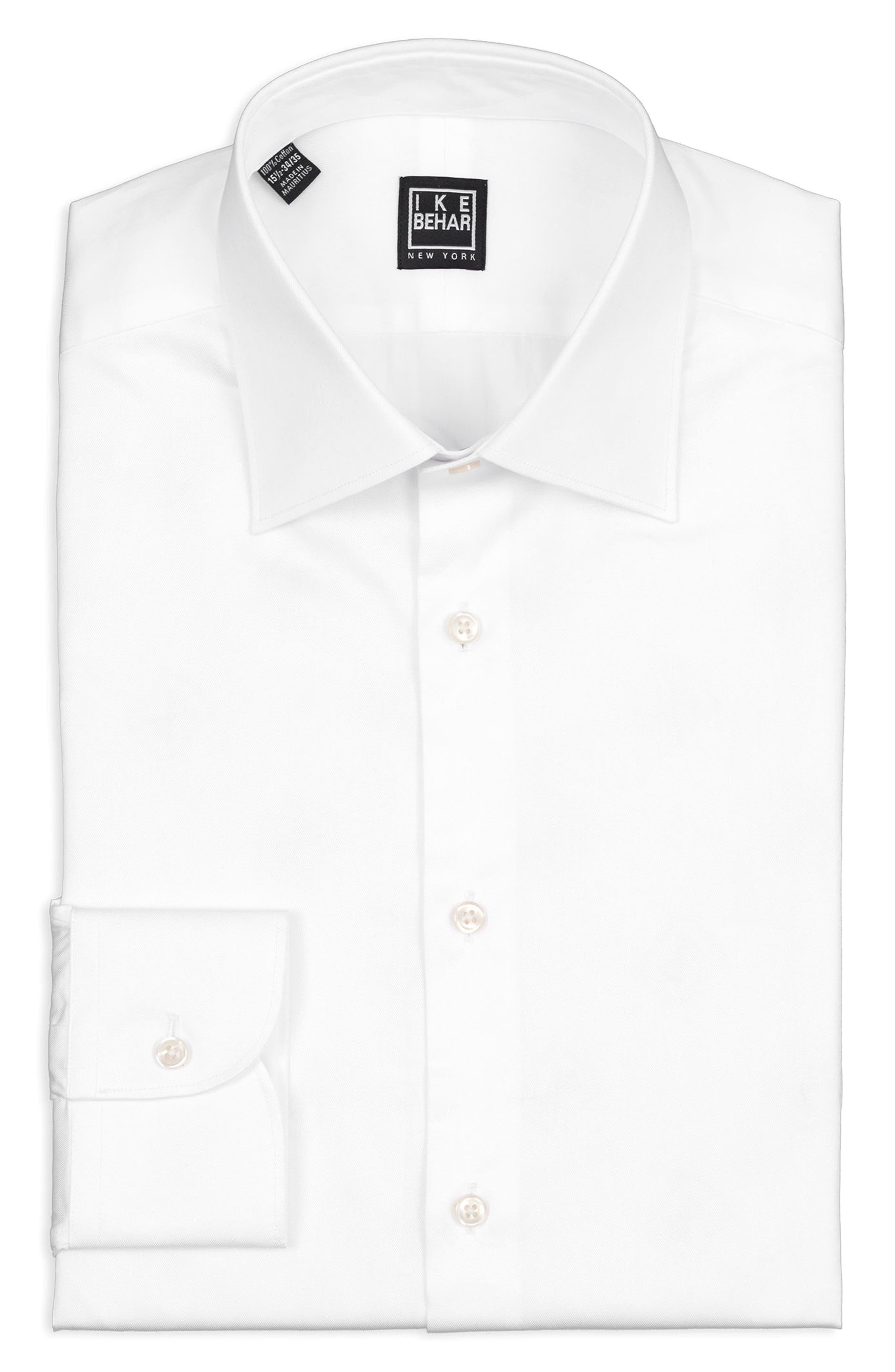Regular Fit Solid Dress Shirt,                             Alternate thumbnail 5, color,                             100