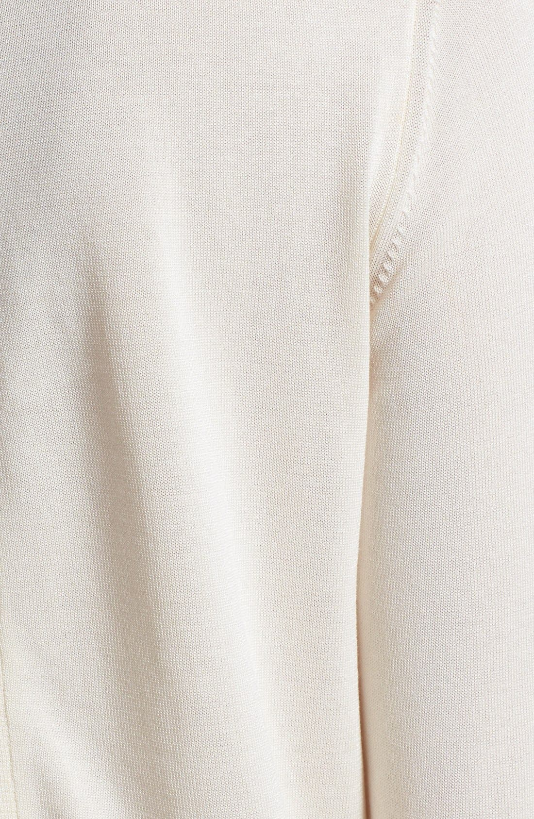 'Maglia' Tricot Button Cardigan,                             Alternate thumbnail 2, color,                             WHITE