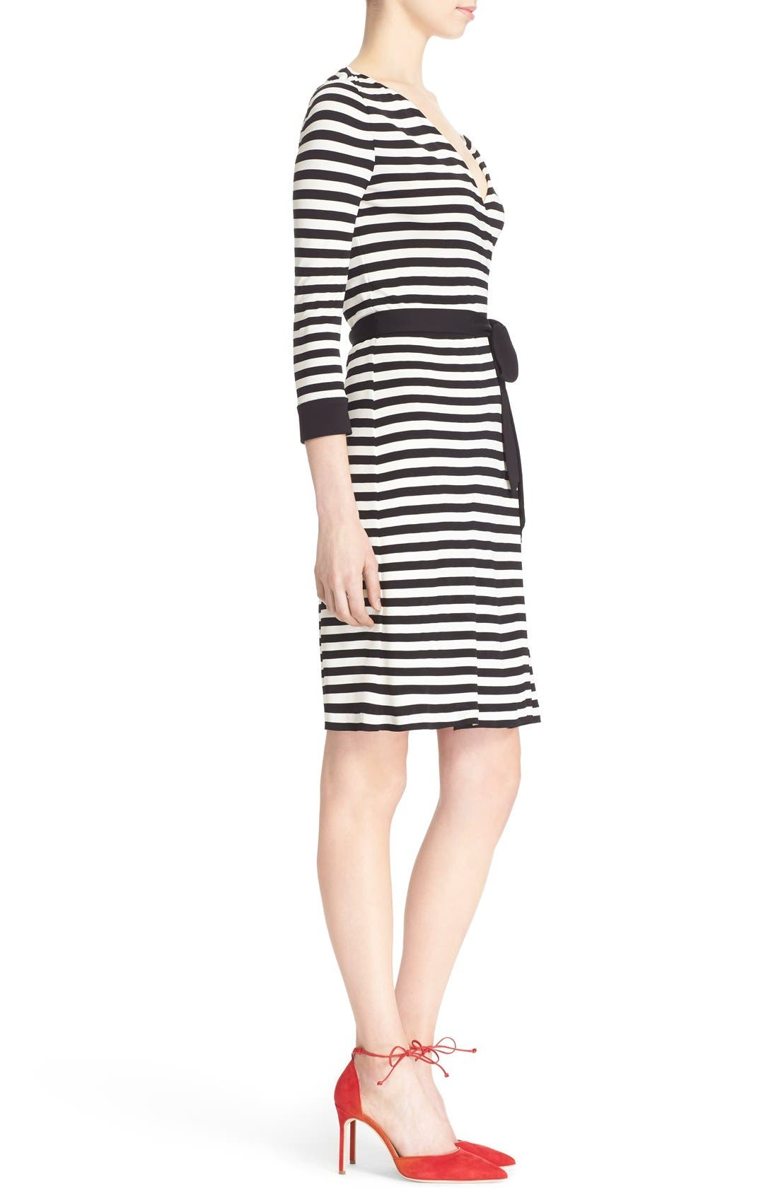 DIANE VON FURSTENBERG,                             'New Julian Two' Wrap Dress,                             Alternate thumbnail 2, color,                             011