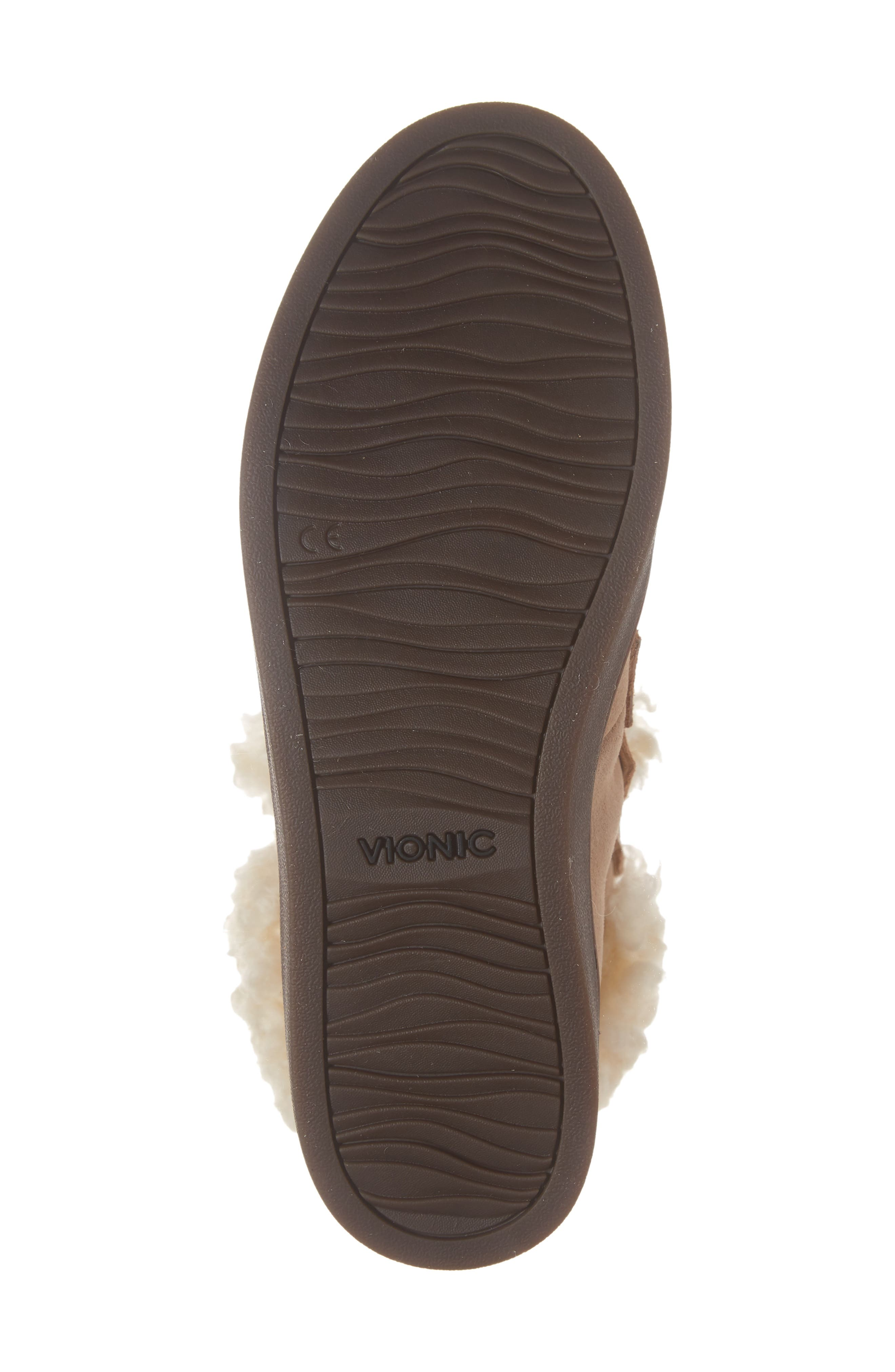 Oak Genuine Shearling Cuff Sneaker Bootie,                             Alternate thumbnail 6, color,                             SAND SUEDE