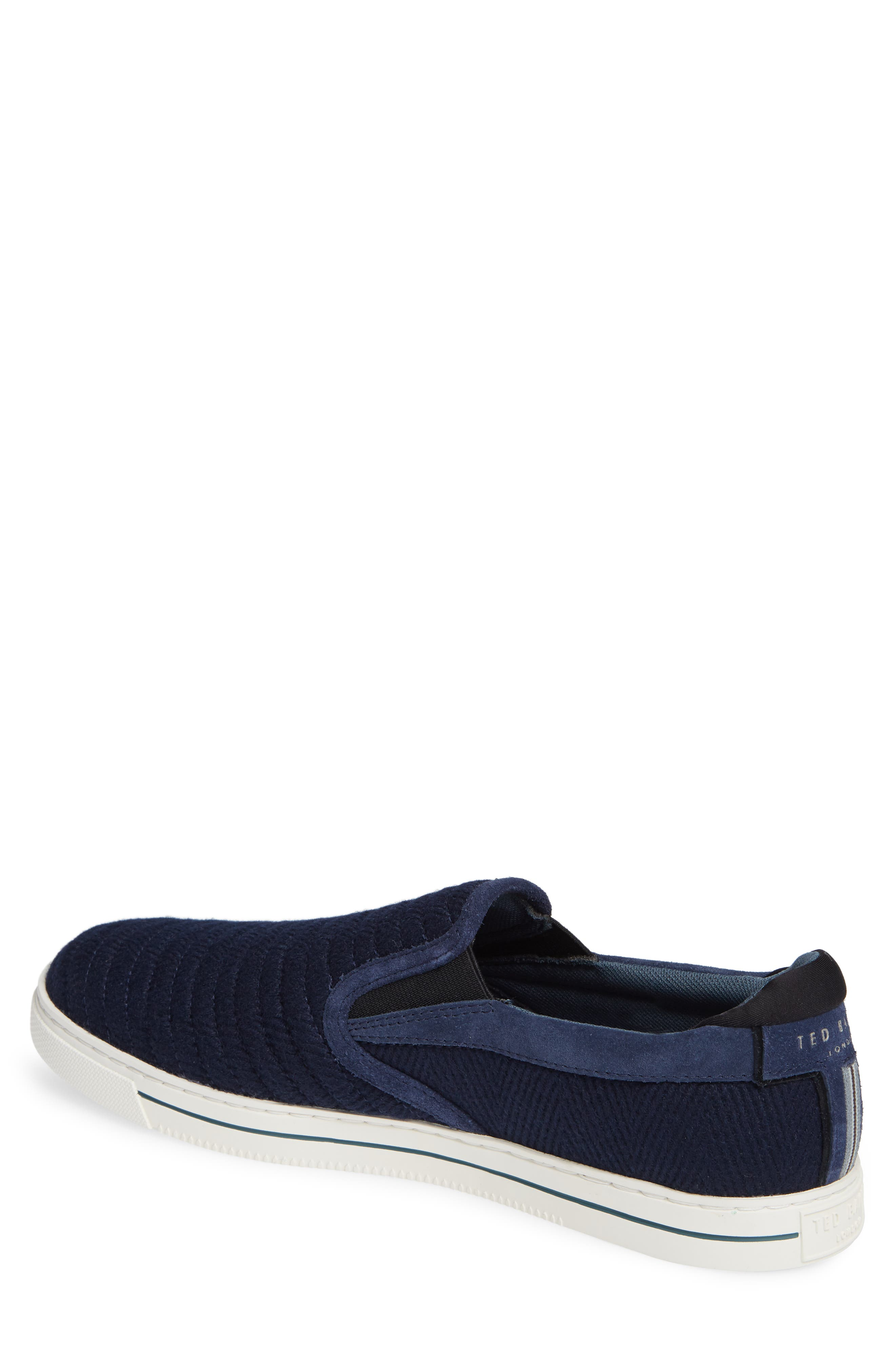 Daniam Slip-On Sneaker,                             Alternate thumbnail 2, color,                             DARK BLUE WOOL