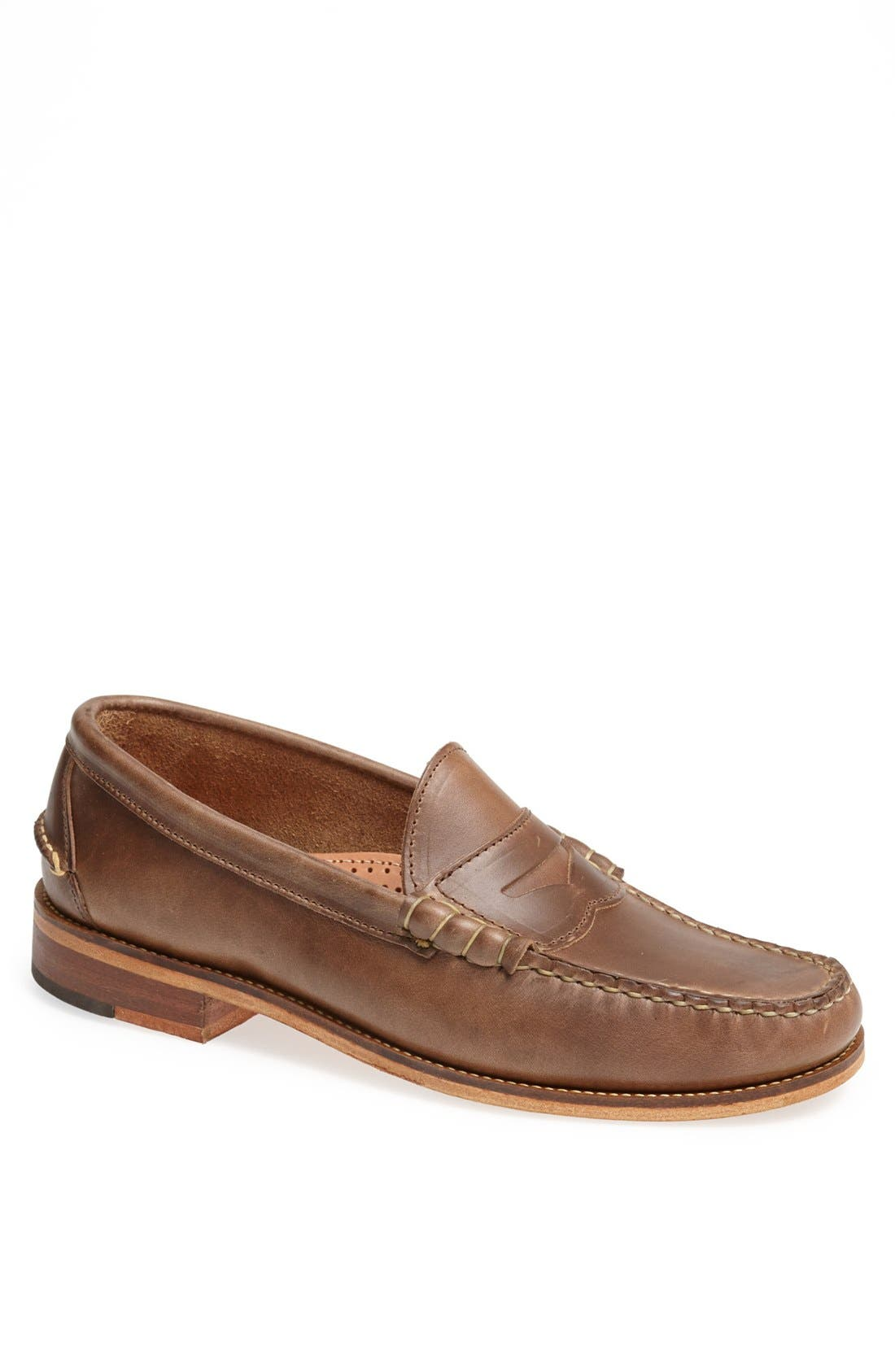 Beefroll Penny Loafer,                             Main thumbnail 1, color,                             NATURAL BROWN