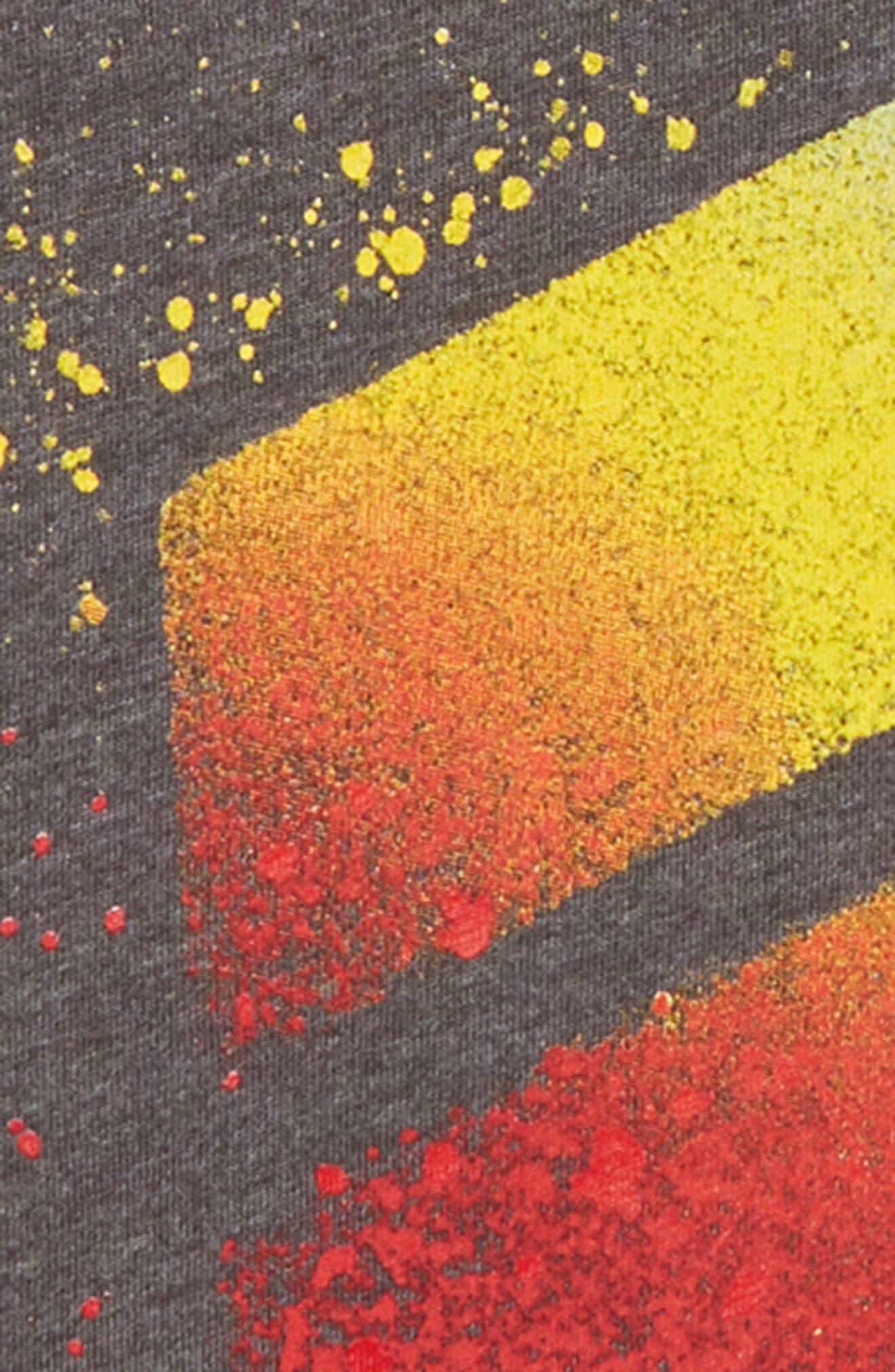 Spray Splash Graphic T-Shirt,                             Alternate thumbnail 2, color,                             BLACK