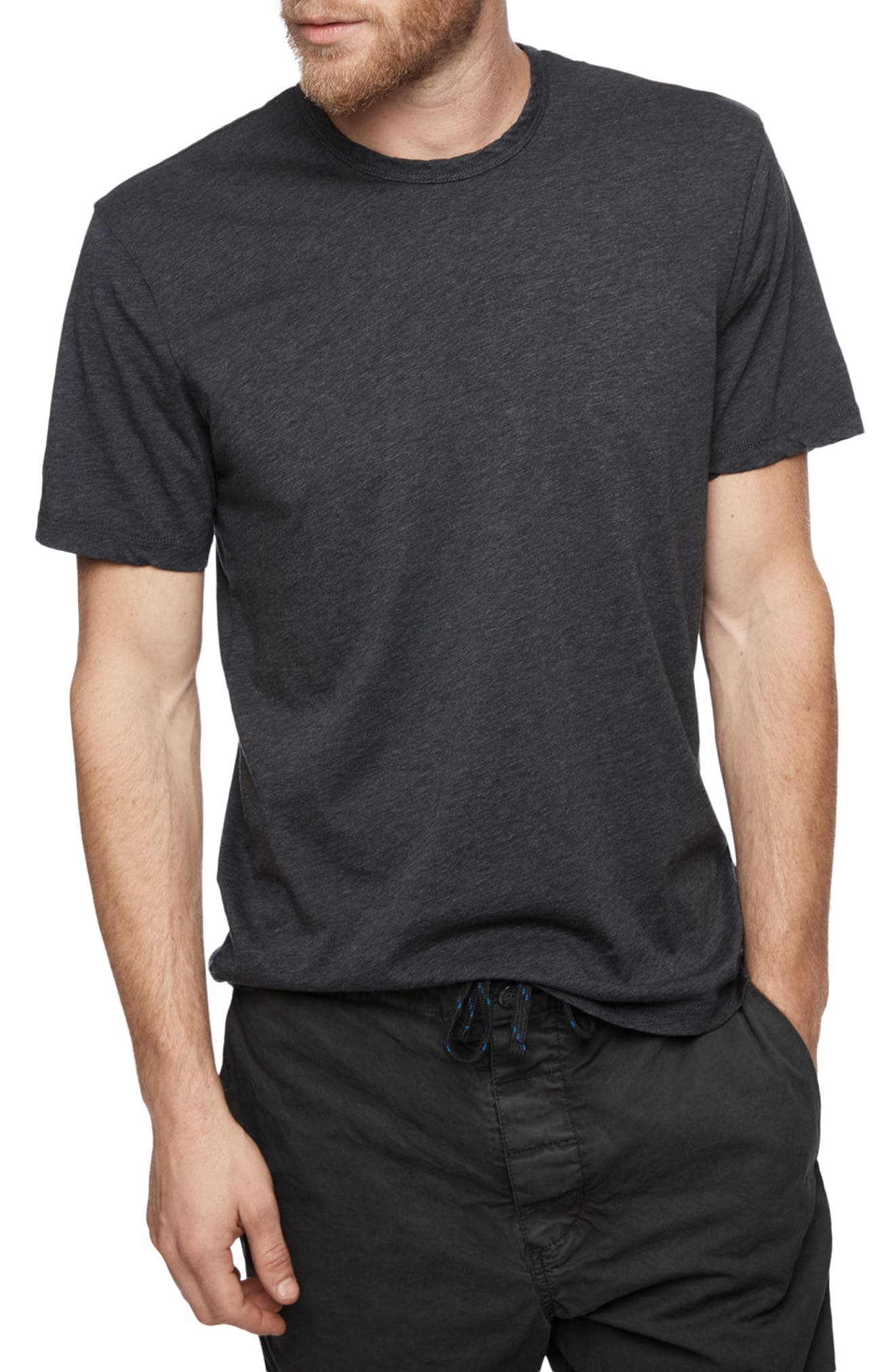 Clean Crewneck Cotton & Cashmere T-Shirt,                         Main,                         color, 411