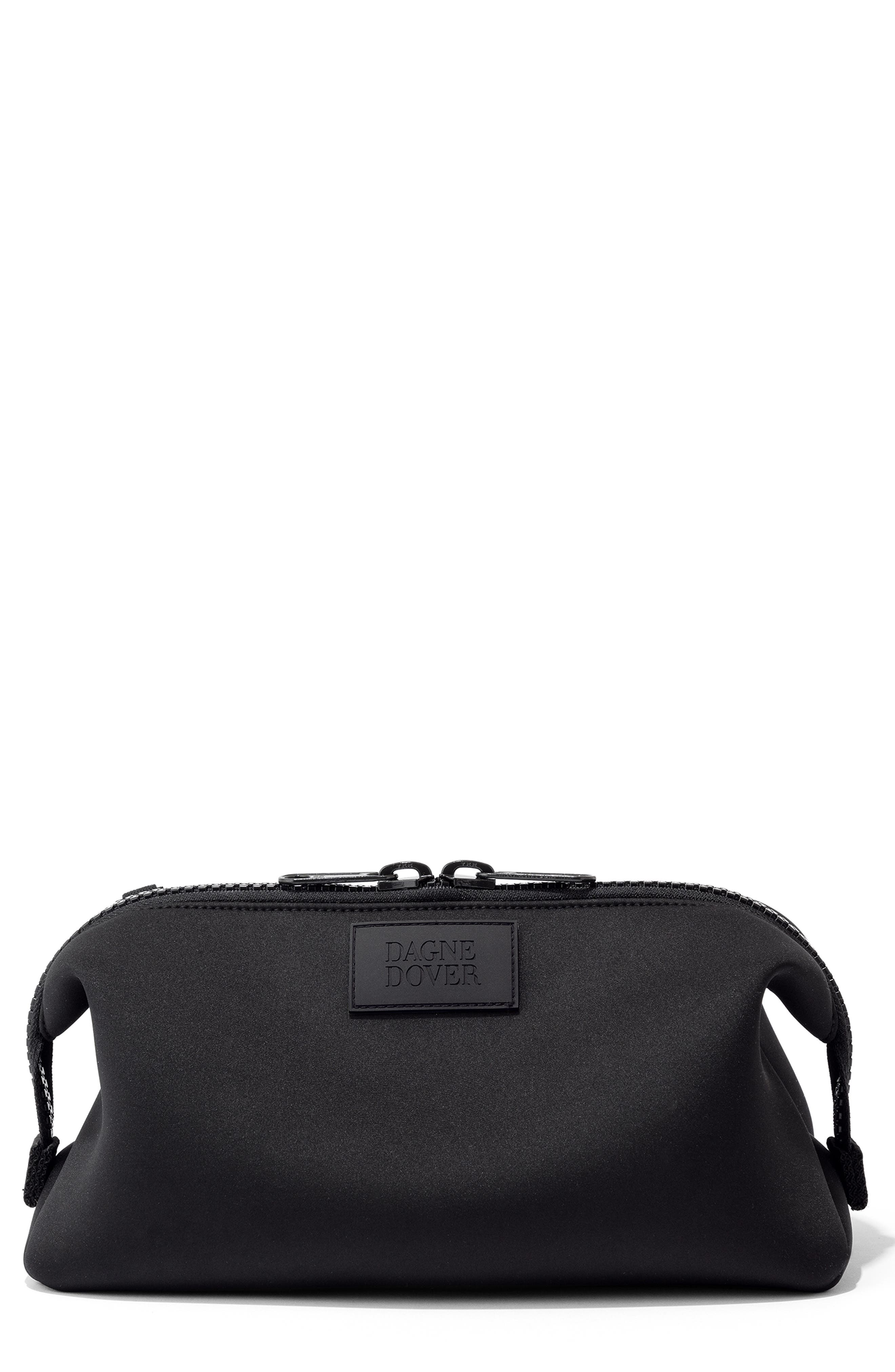 DAGNE DOVER Extra Large Hunter Neoprene Toiletry Bag, Main, color, ONYX