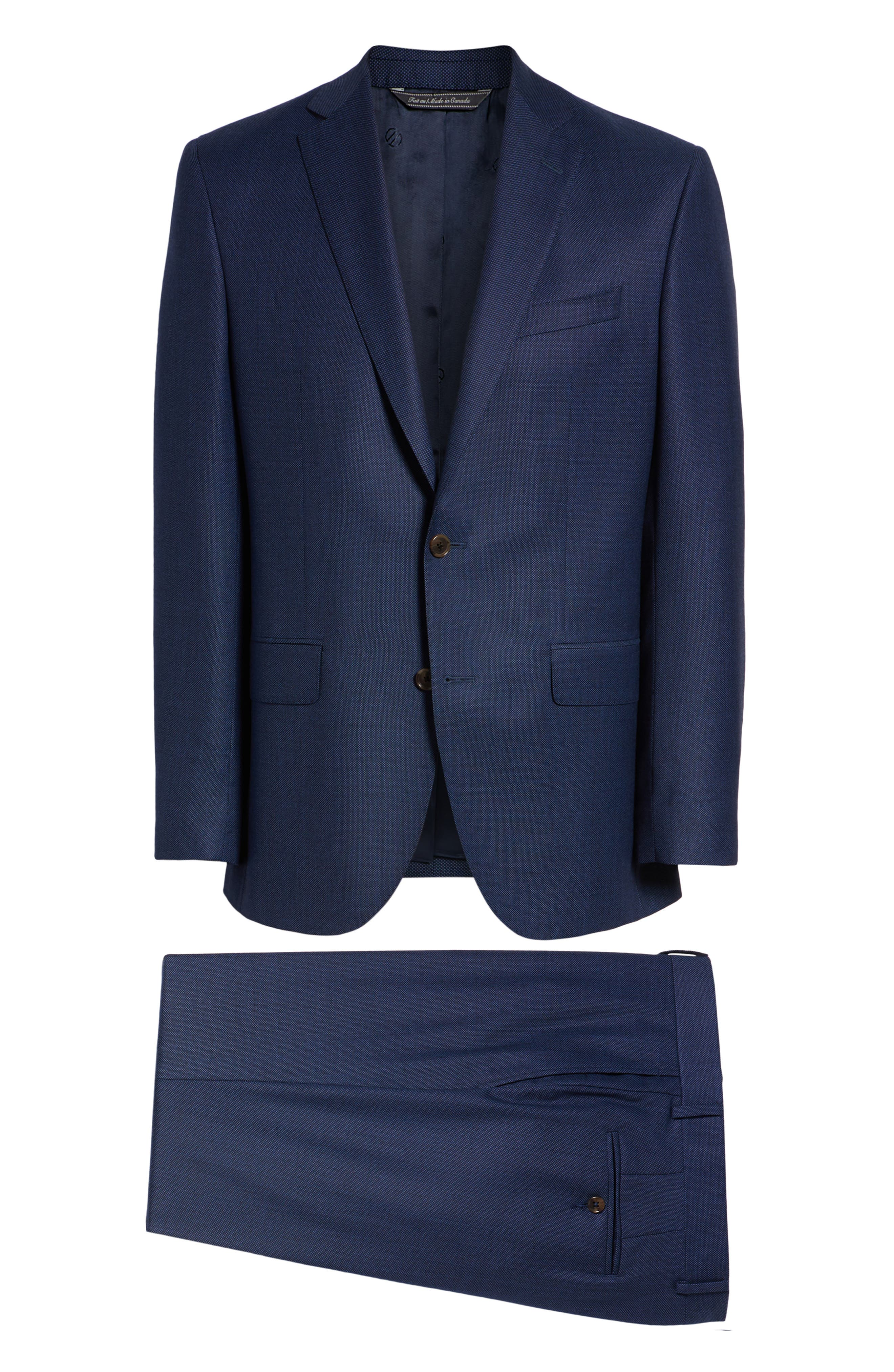 Ryan Classic Fit Solid Wool Suit,                             Alternate thumbnail 9, color,                             400