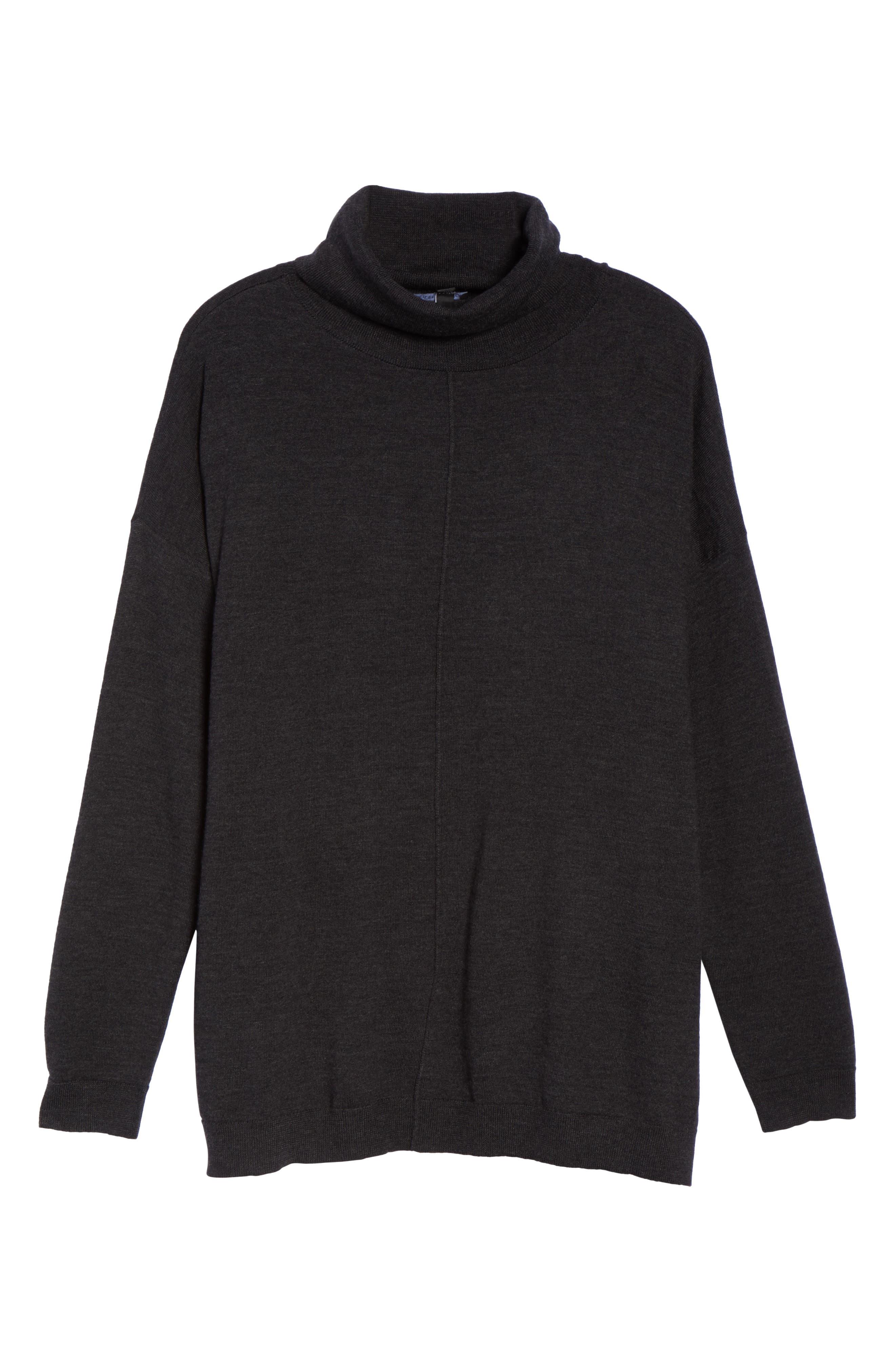 Merino Wool Turtleneck Sweater,                             Alternate thumbnail 6, color,                             021
