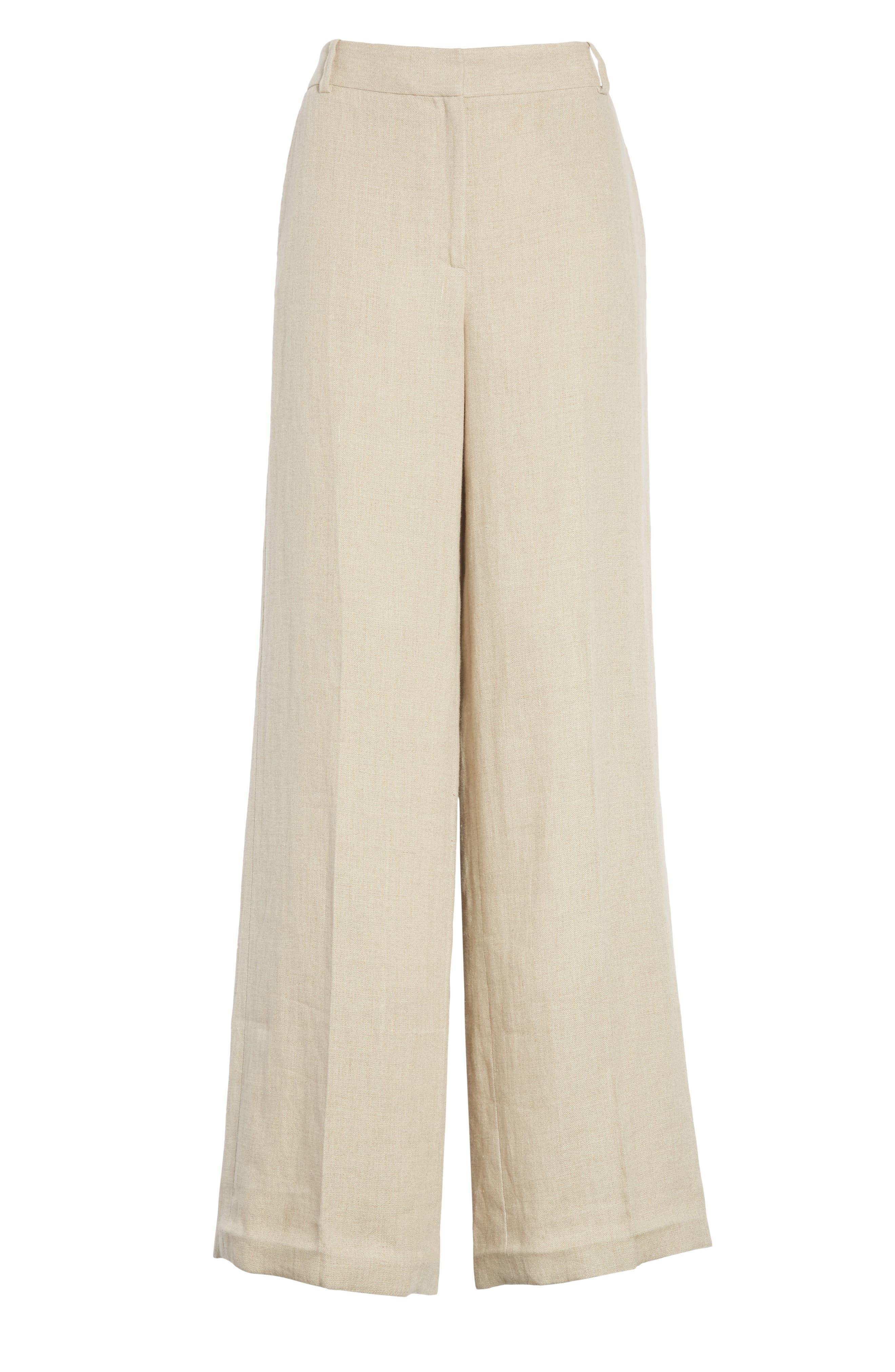 Piazza Integrate Wide Leg Linen Pants,                             Alternate thumbnail 6, color,                             250
