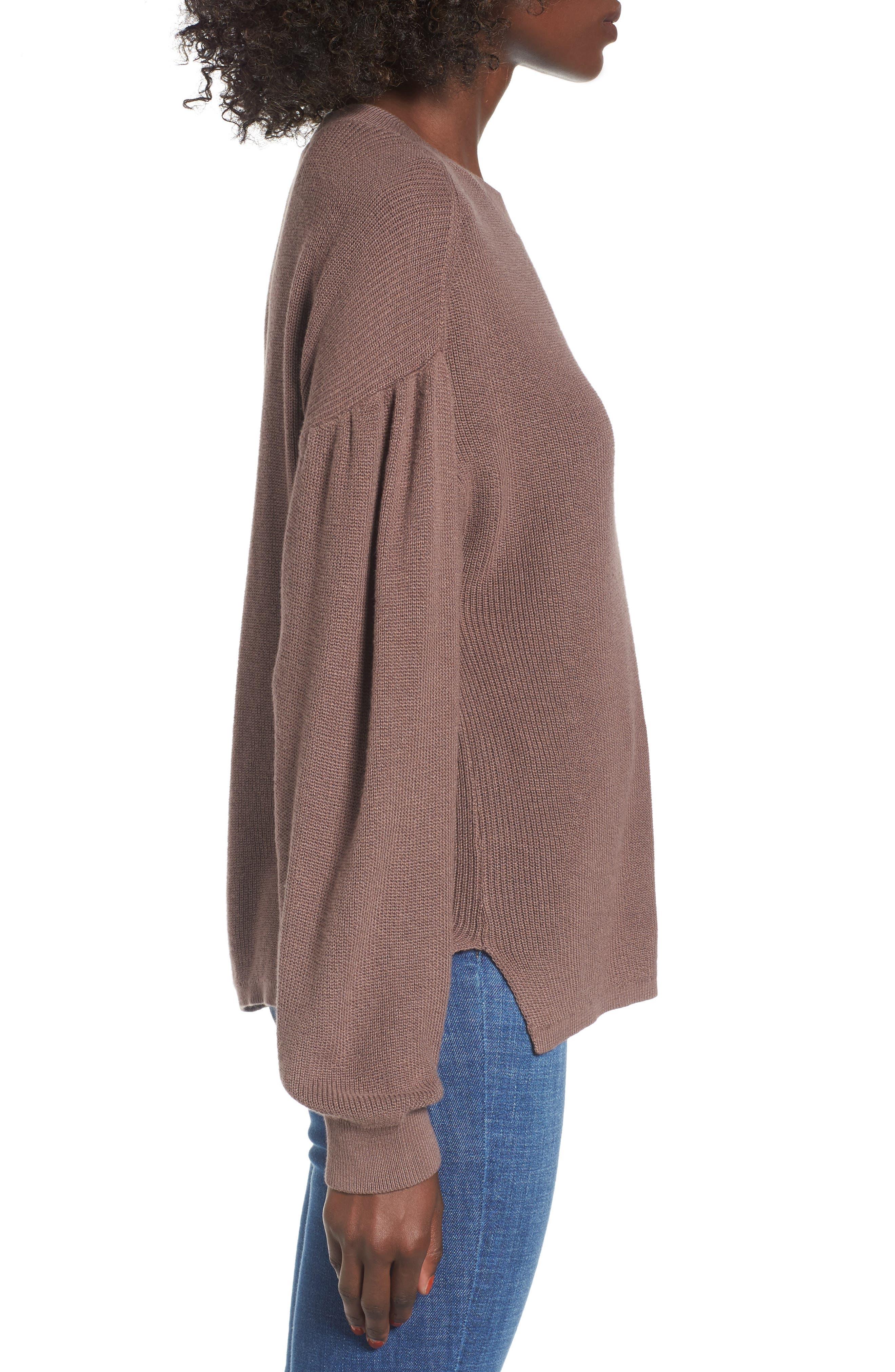 Drape Sleeve Sweater,                             Alternate thumbnail 3, color,                             230